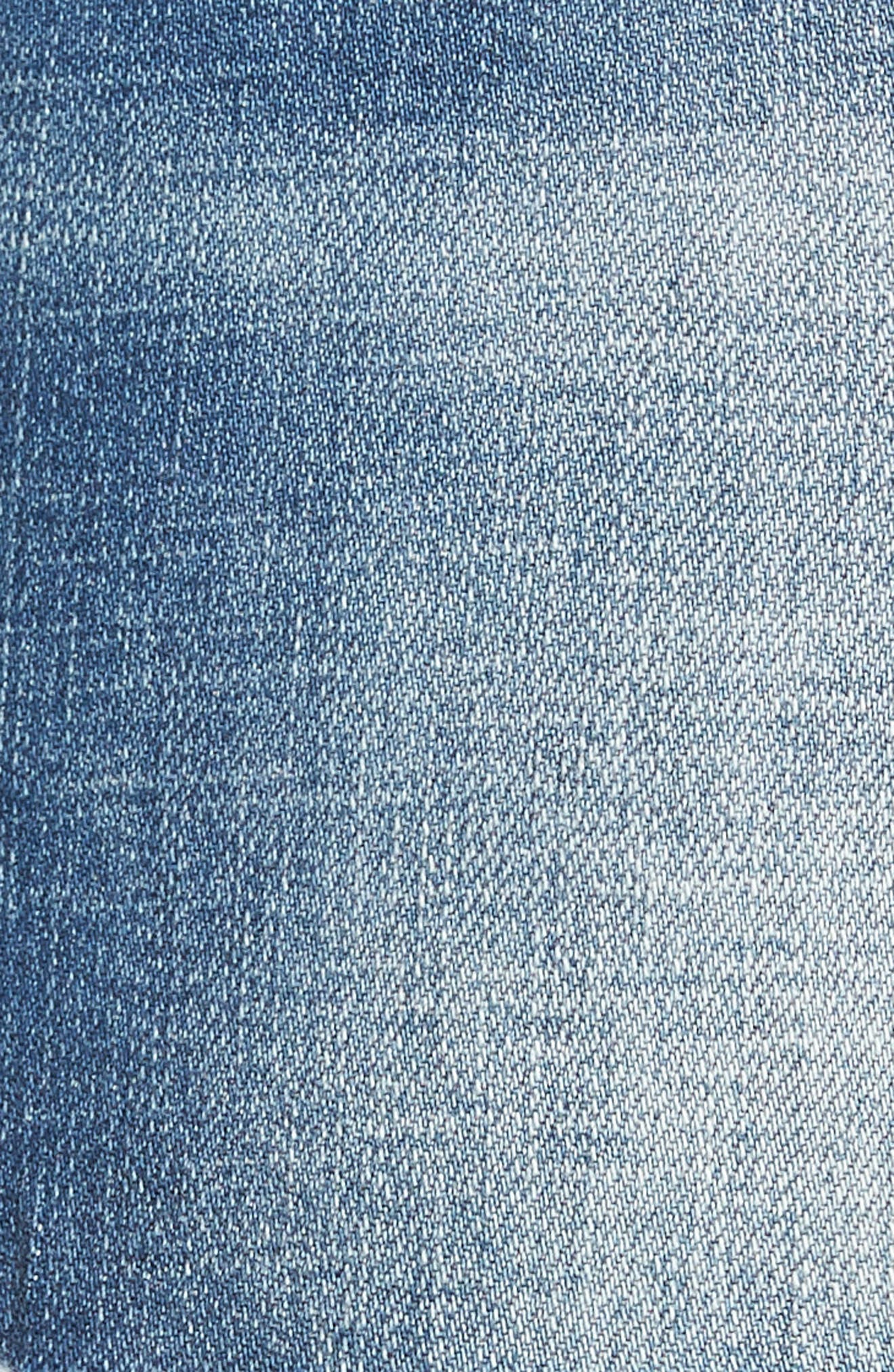 Gidget Distressed Denim Shorts,                             Alternate thumbnail 6, color,                             475