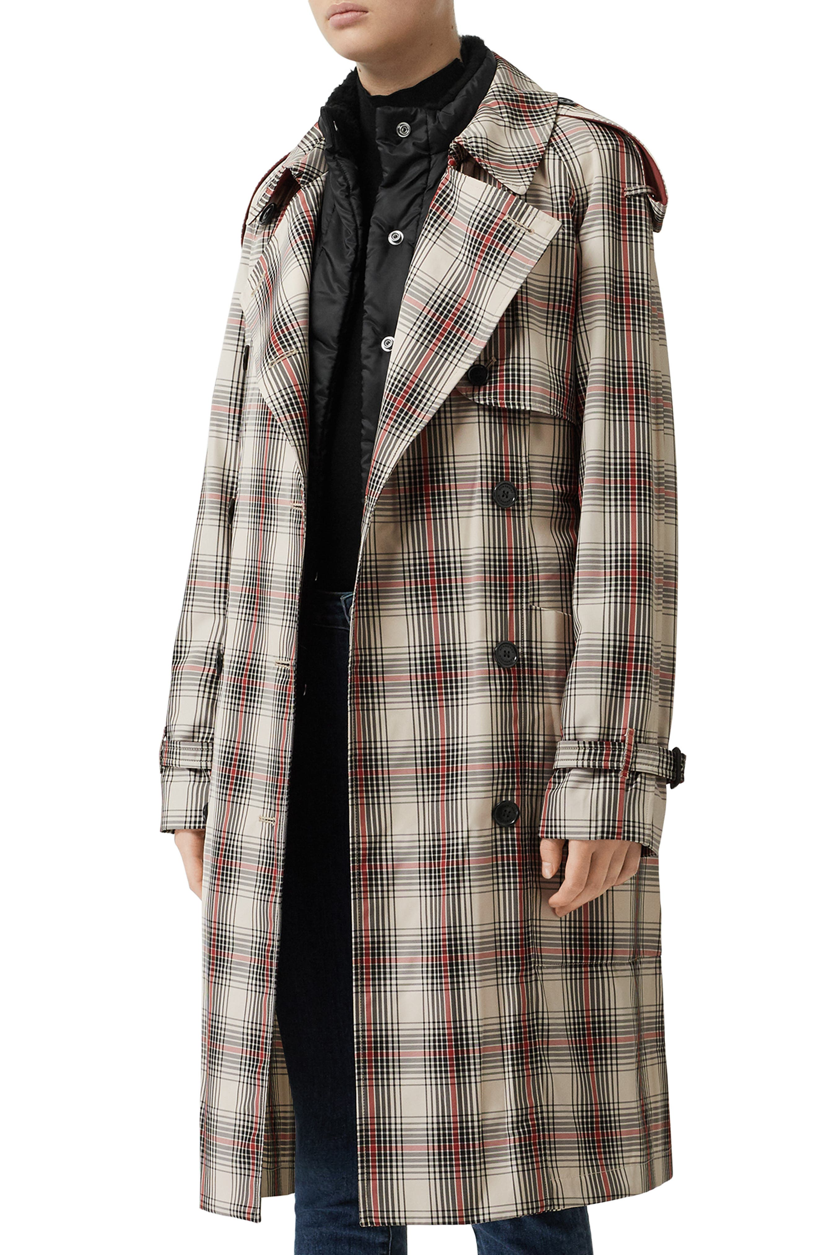 Mileburn Trench Coat, Main, color, LIGHT NUDE