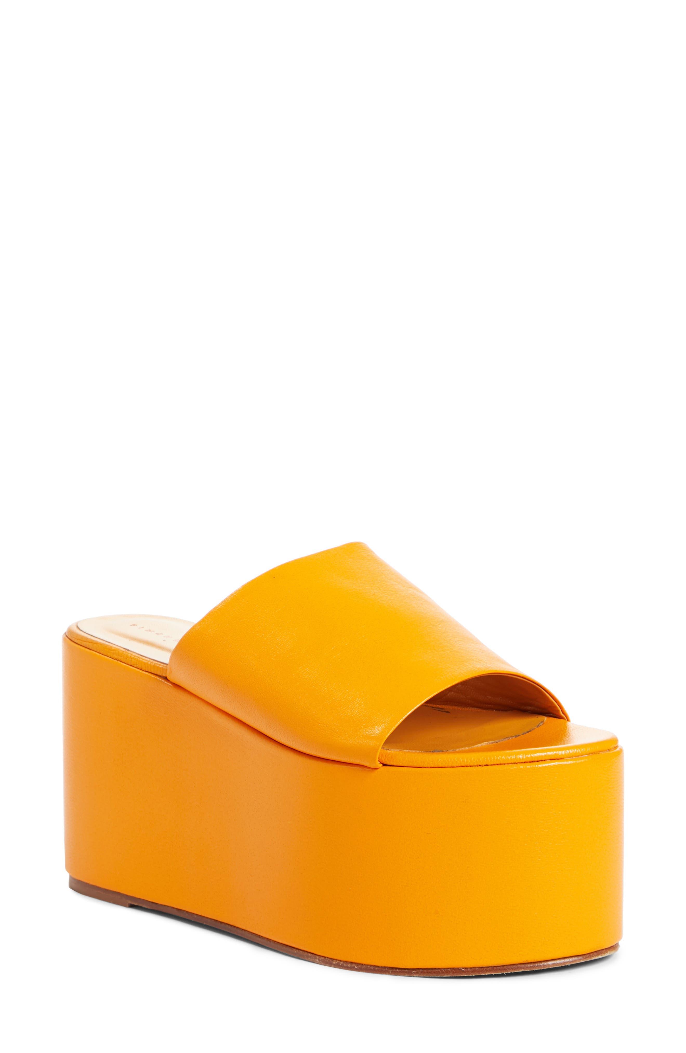,                             Blackout Platform Sandal,                             Main thumbnail 1, color,                             GOLDEN ORANGE