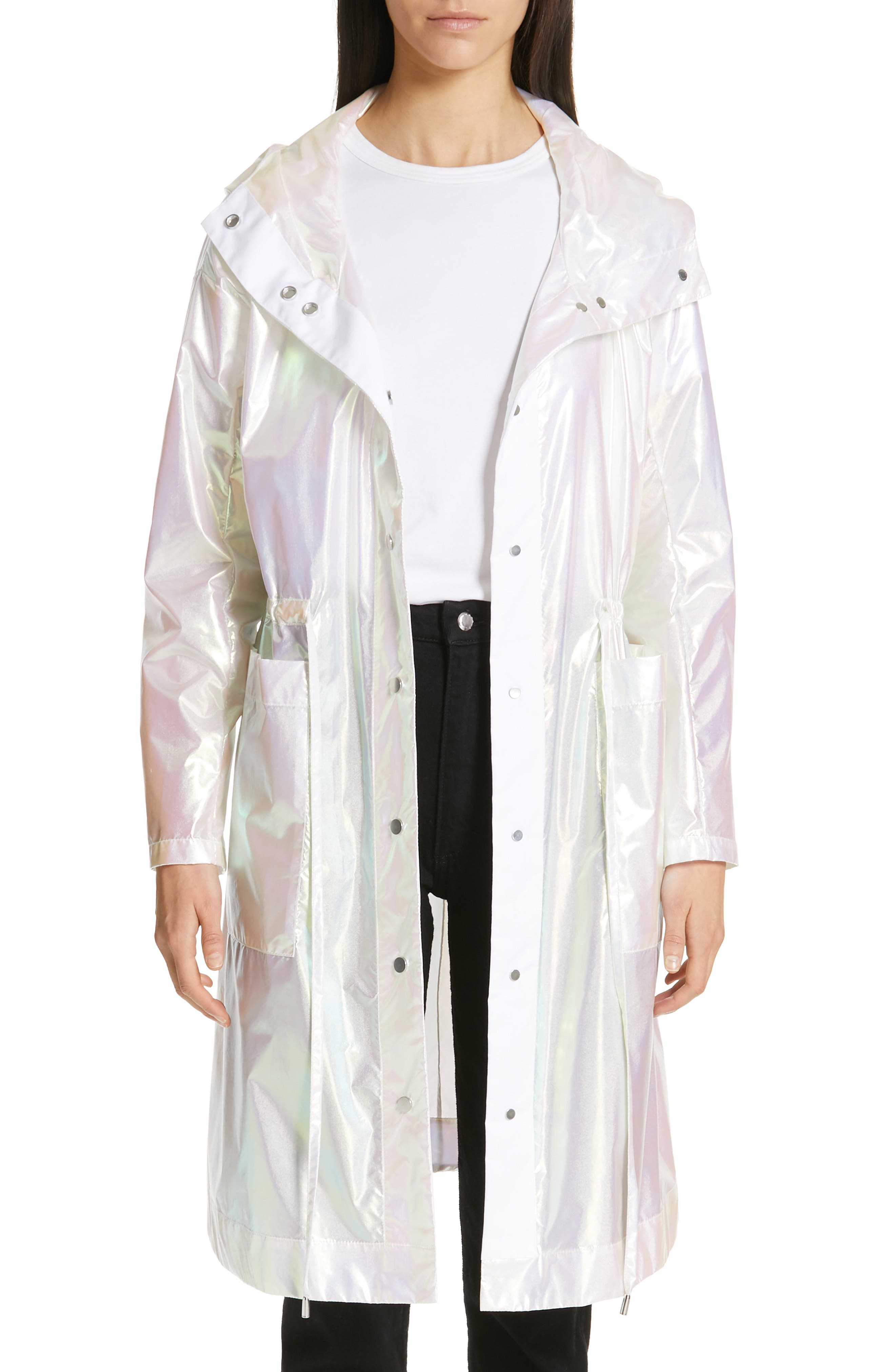 Iridescent Hooded Parka, Main, color, IRIDESCENT