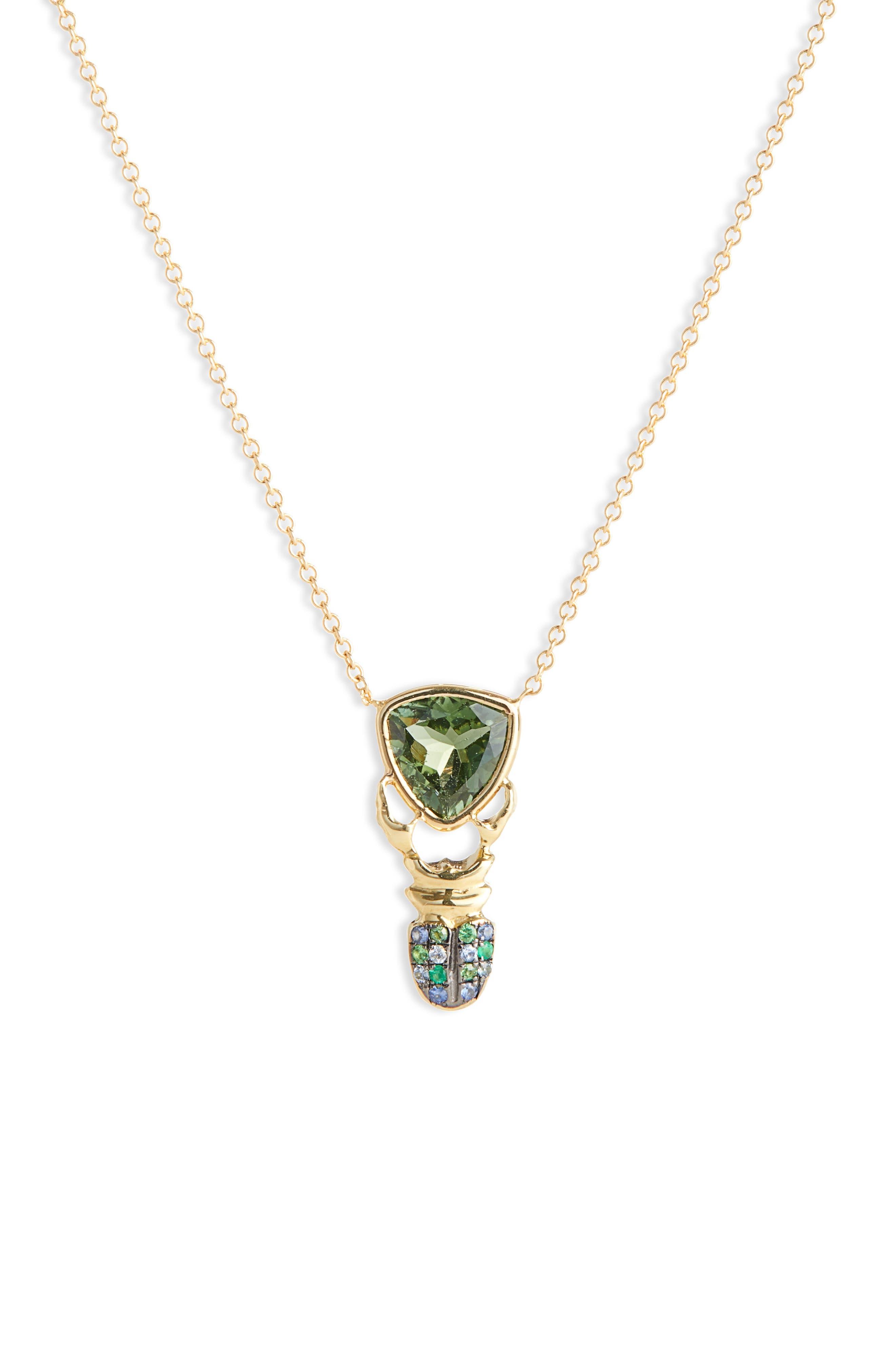 ,                             Khepri Tourmaline, Sapphire & Emerald Pendant Necklace,                             Alternate thumbnail 2, color,                             710