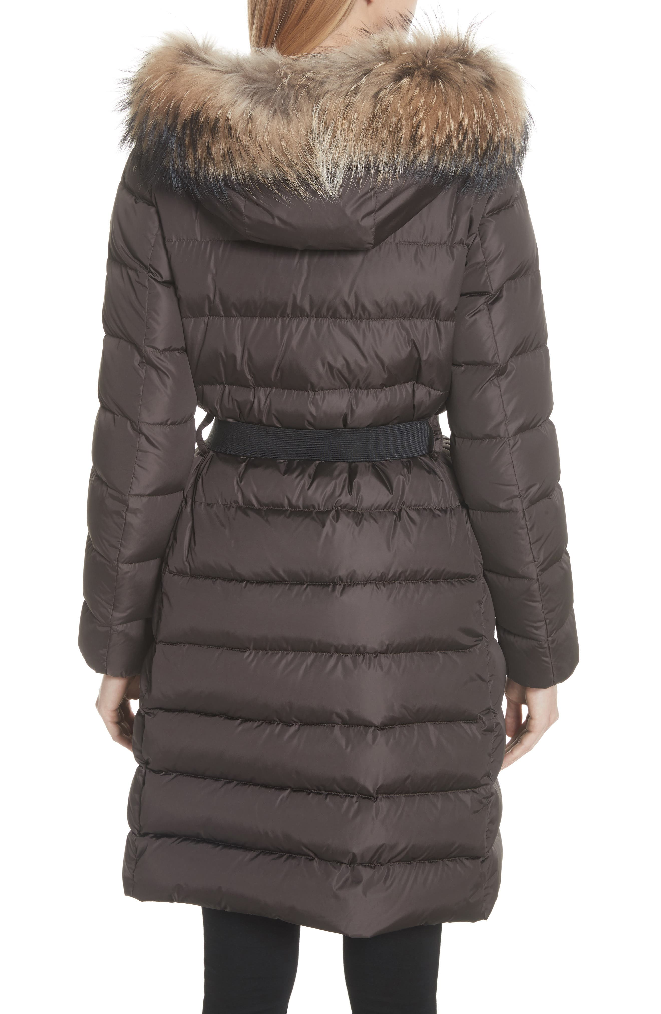 ,                             'Khloe' Water Resistant Nylon Down Puffer Parka with Removable Genuine Fox Fur Trim,                             Alternate thumbnail 3, color,                             BROWN