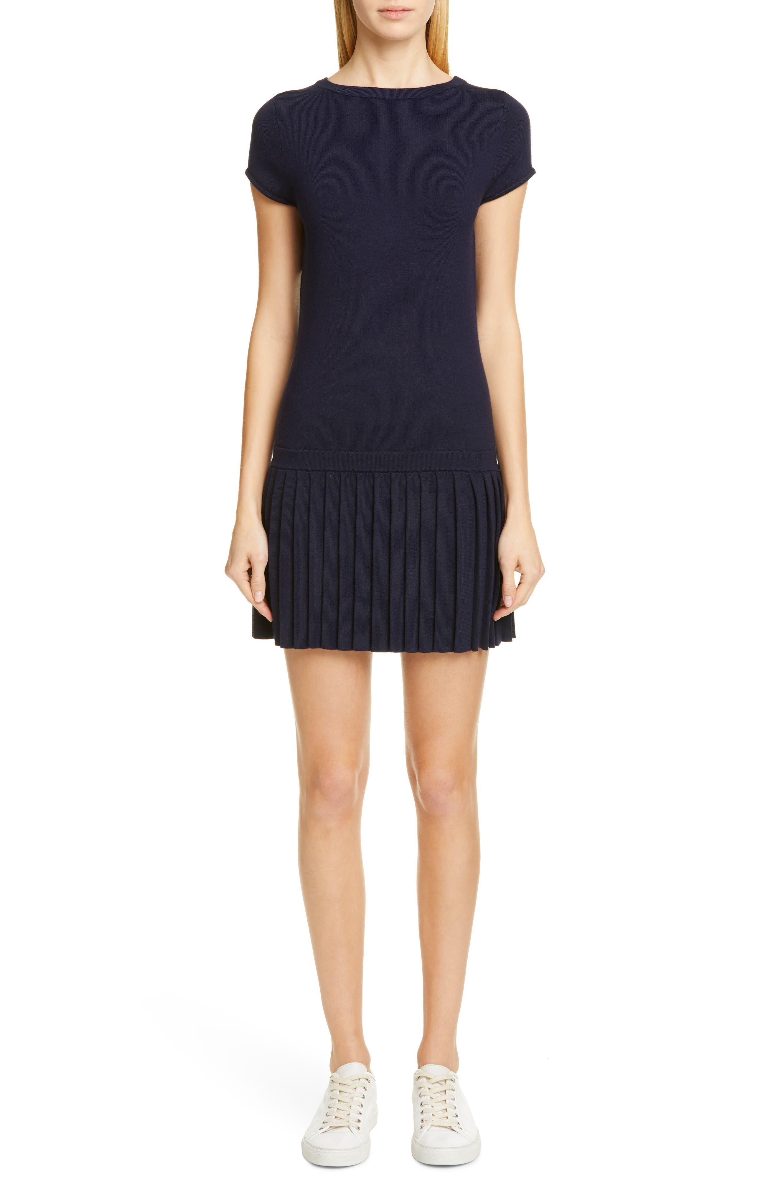 Wool Sweater Dress, Main, color, NAVY