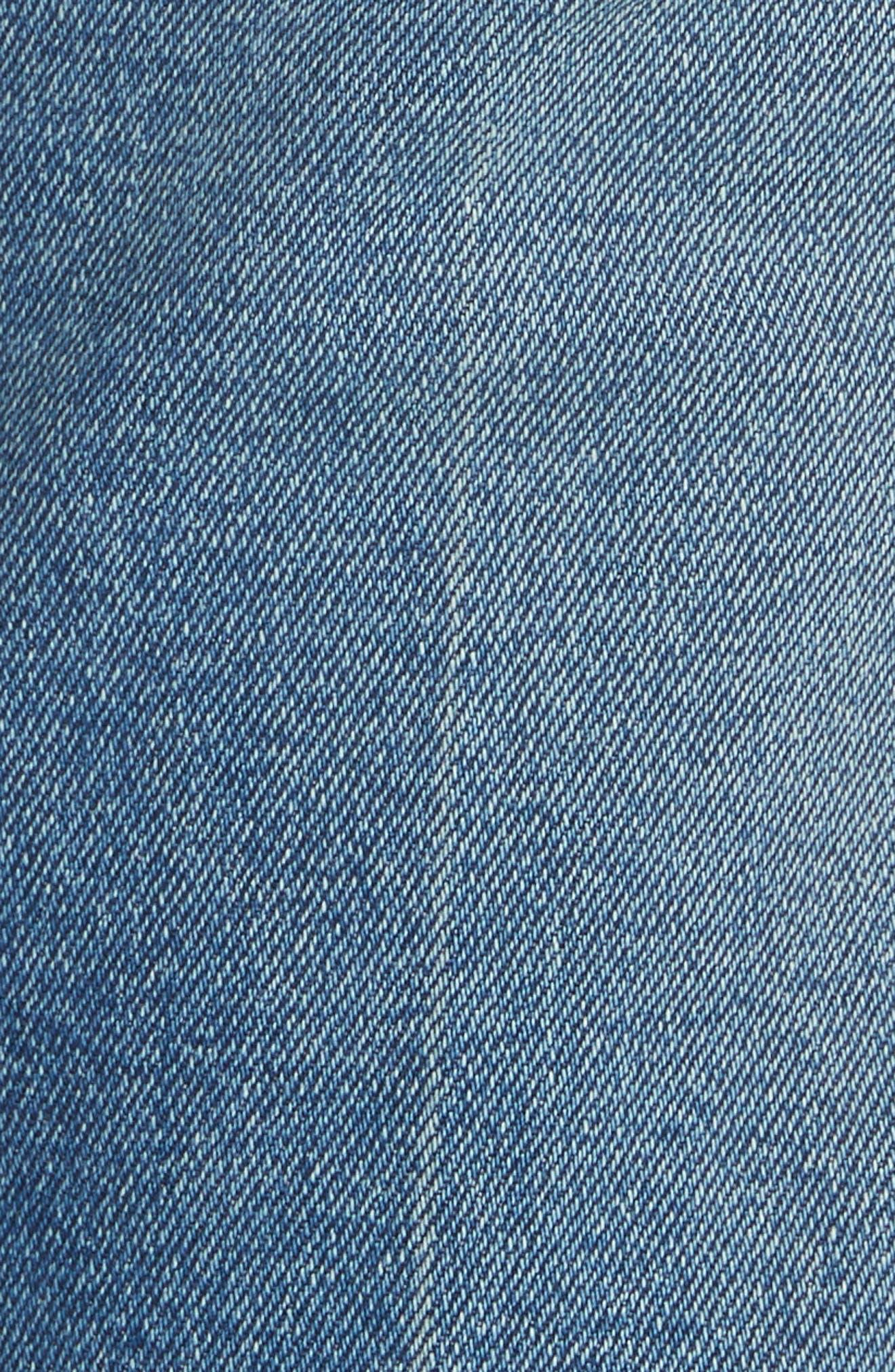 ,                             Raquel Crop Flare Jeans,                             Alternate thumbnail 5, color,                             VINTAGE BLUE