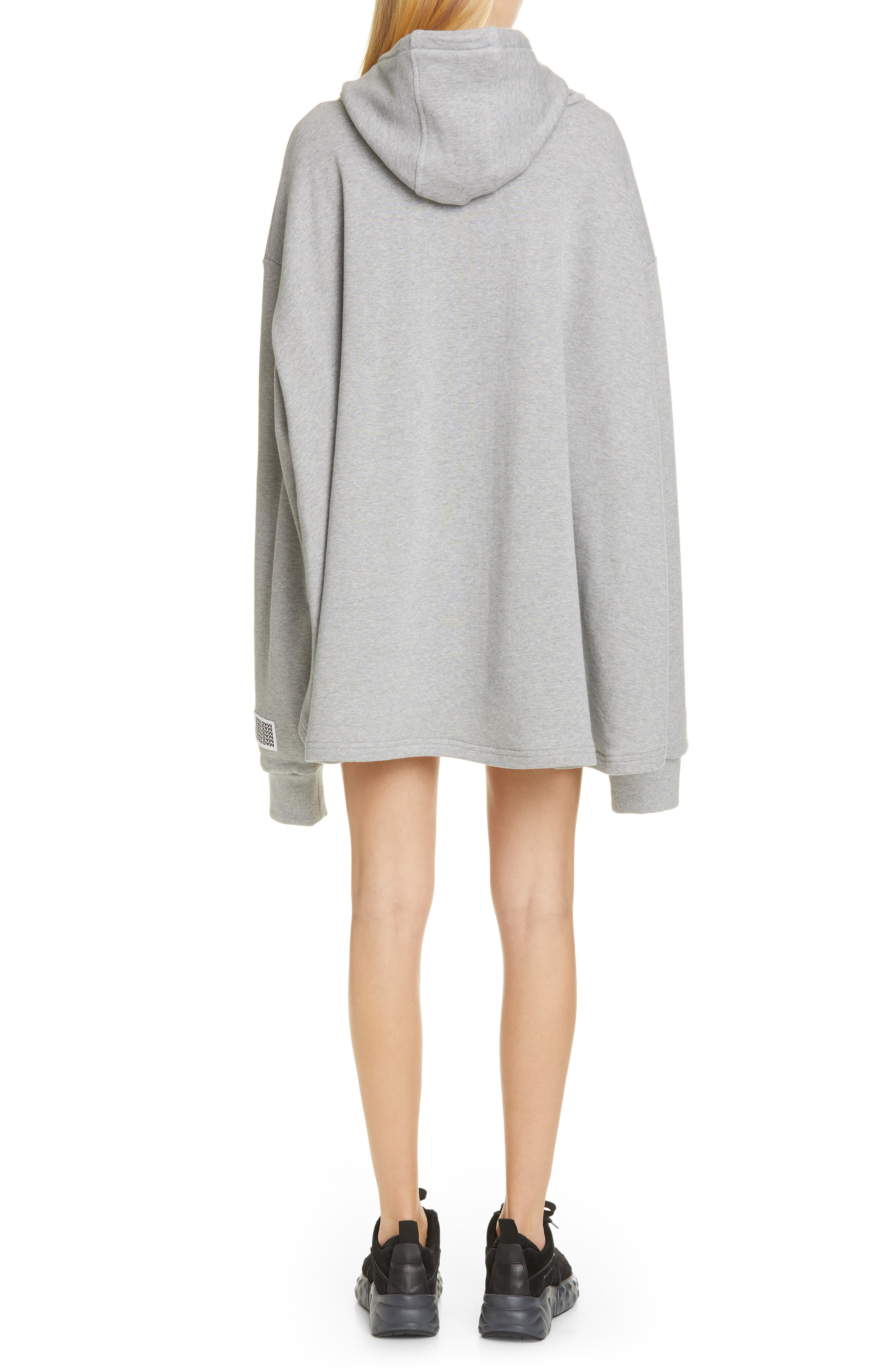 ,                             Oversize French Terry Hoodie,                             Alternate thumbnail 2, color,                             GREY
