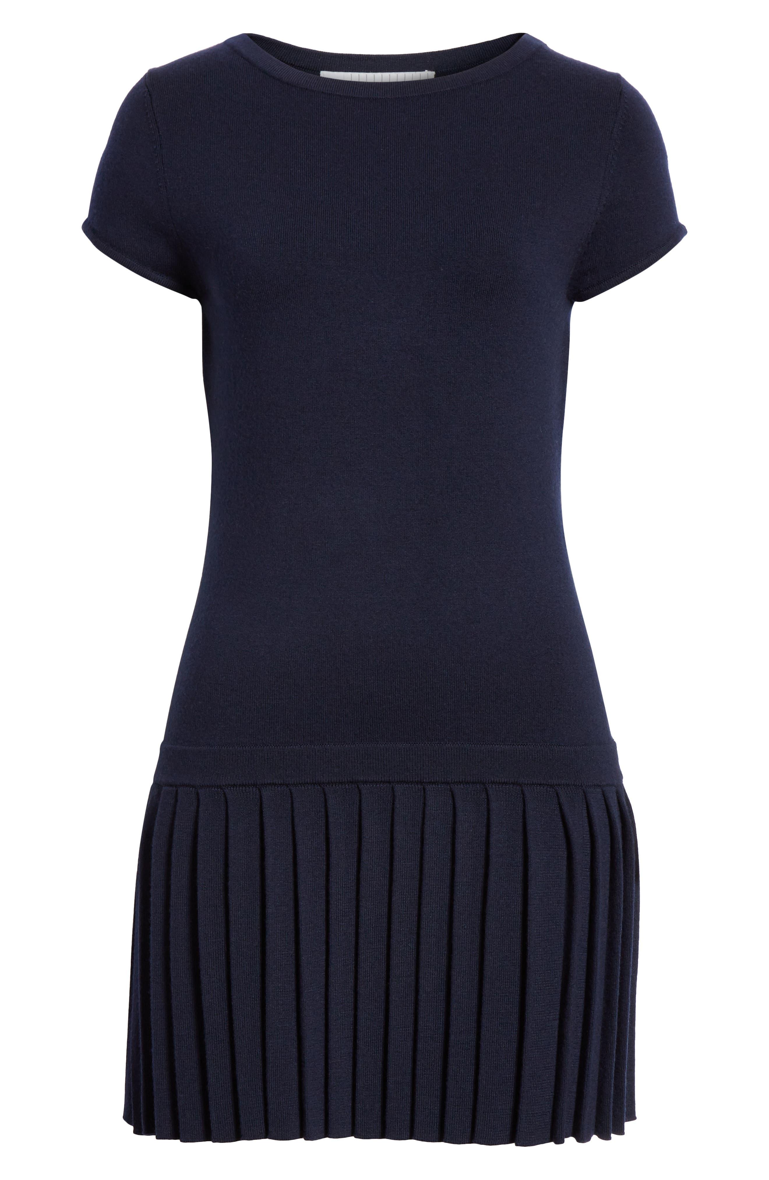 ,                             Wool Sweater Dress,                             Alternate thumbnail 7, color,                             NAVY