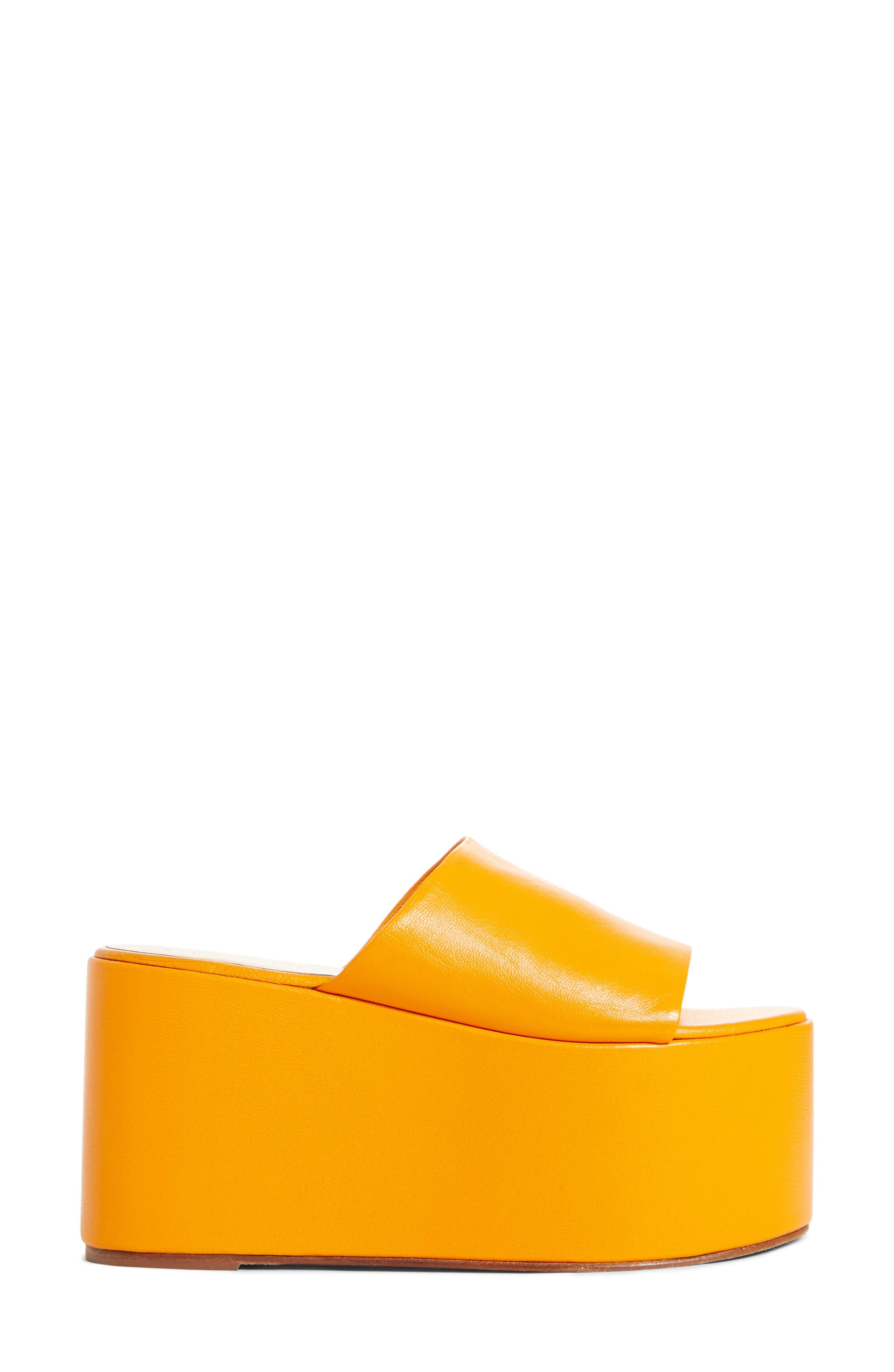 ,                             Blackout Platform Sandal,                             Alternate thumbnail 3, color,                             GOLDEN ORANGE