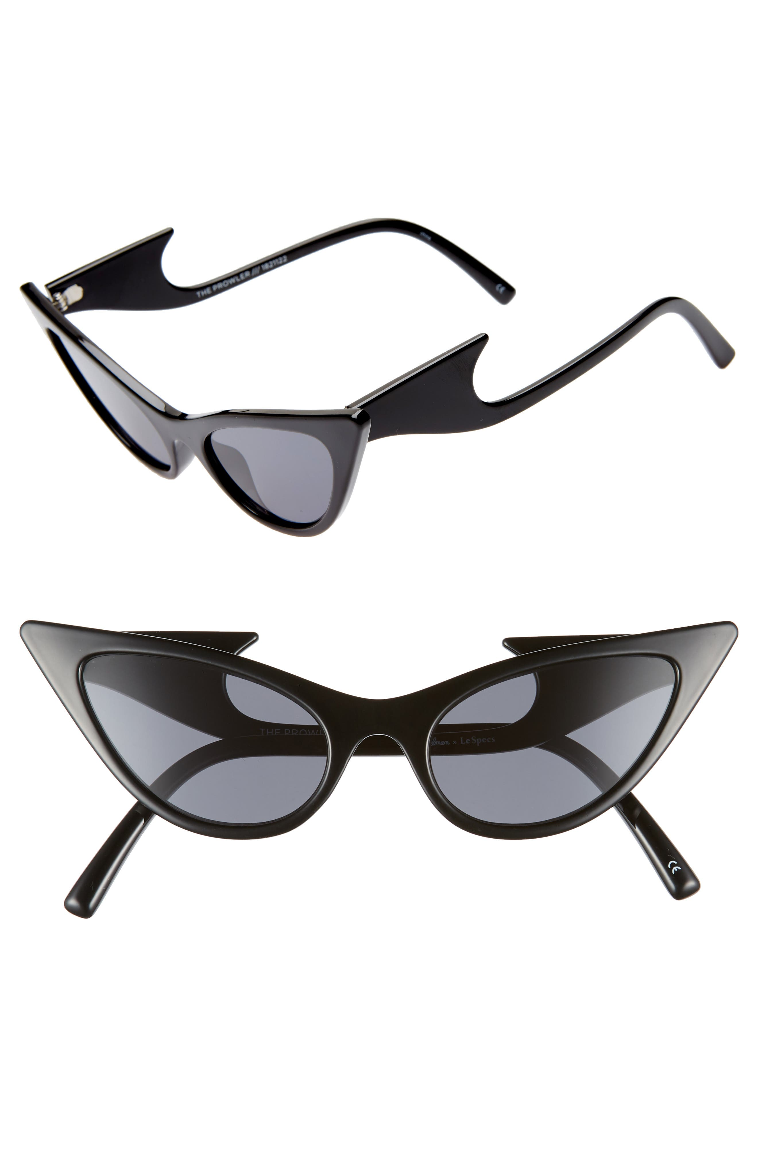 The Prowler 55mm Sunglasses, Main, color, BLACK