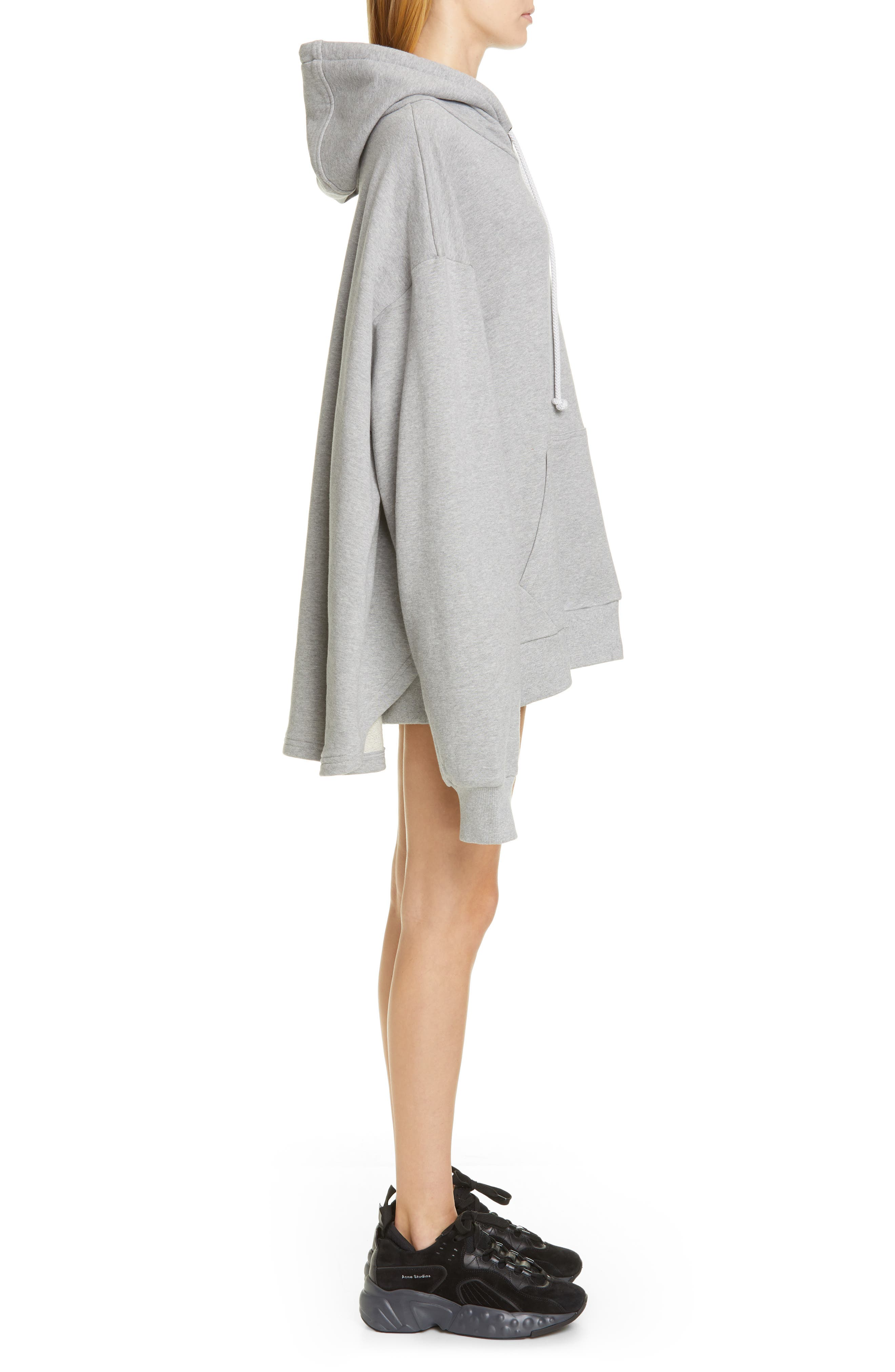 ,                             Oversize French Terry Hoodie,                             Alternate thumbnail 4, color,                             GREY