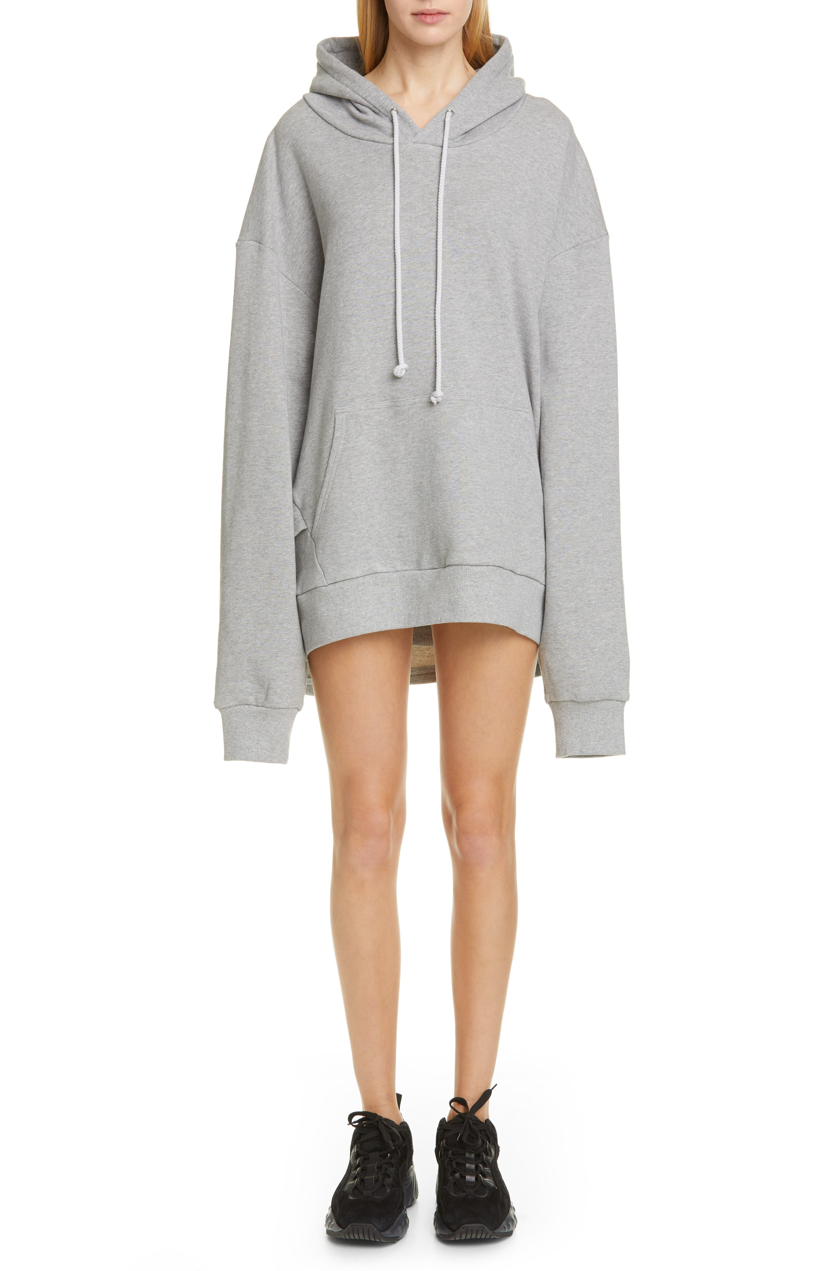 Oversize French Terry Hoodie, Main, color, GREY