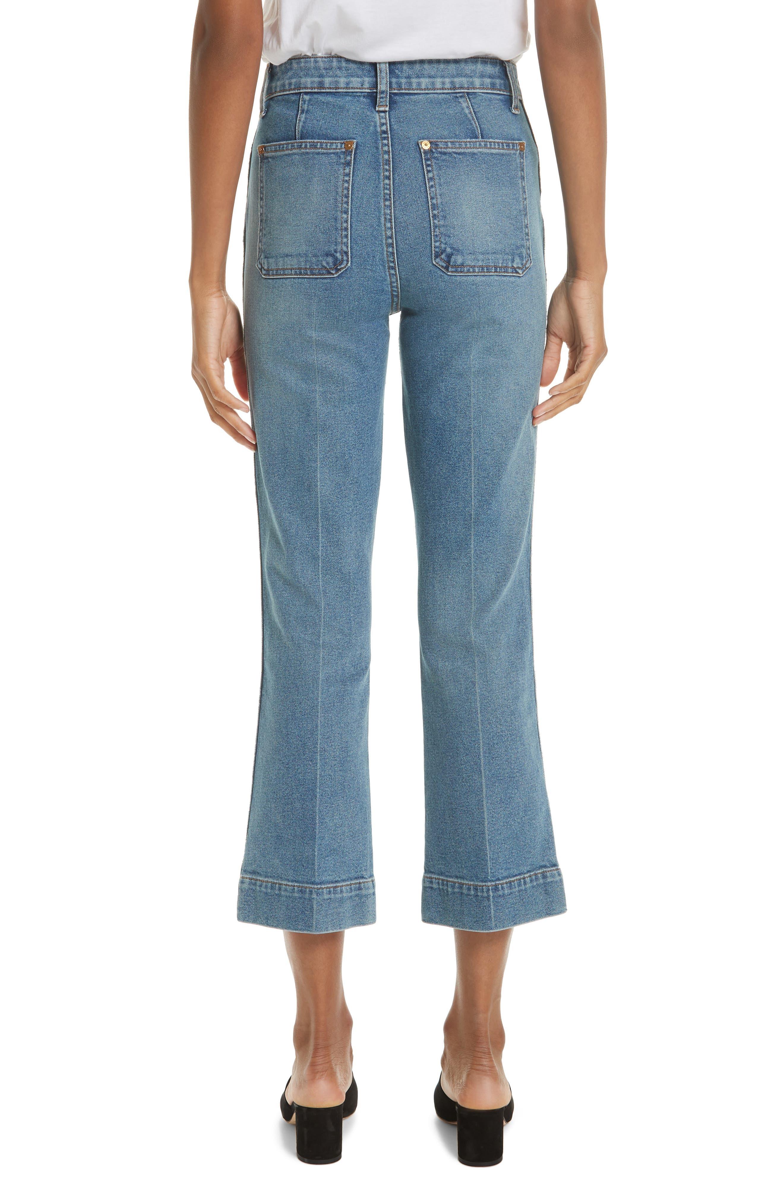 ,                             Raquel Crop Flare Jeans,                             Alternate thumbnail 2, color,                             VINTAGE BLUE