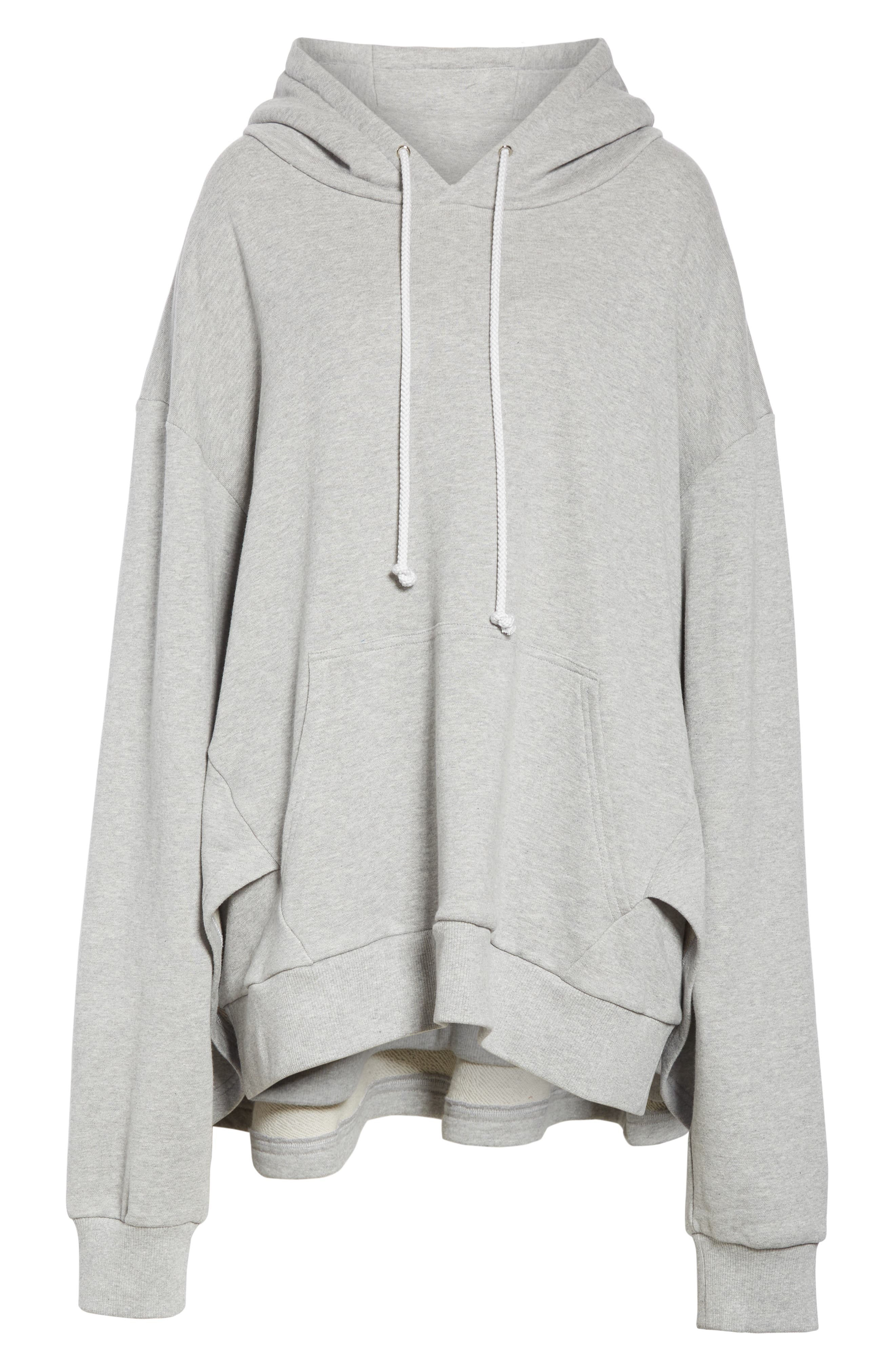 ,                             Oversize French Terry Hoodie,                             Alternate thumbnail 7, color,                             GREY
