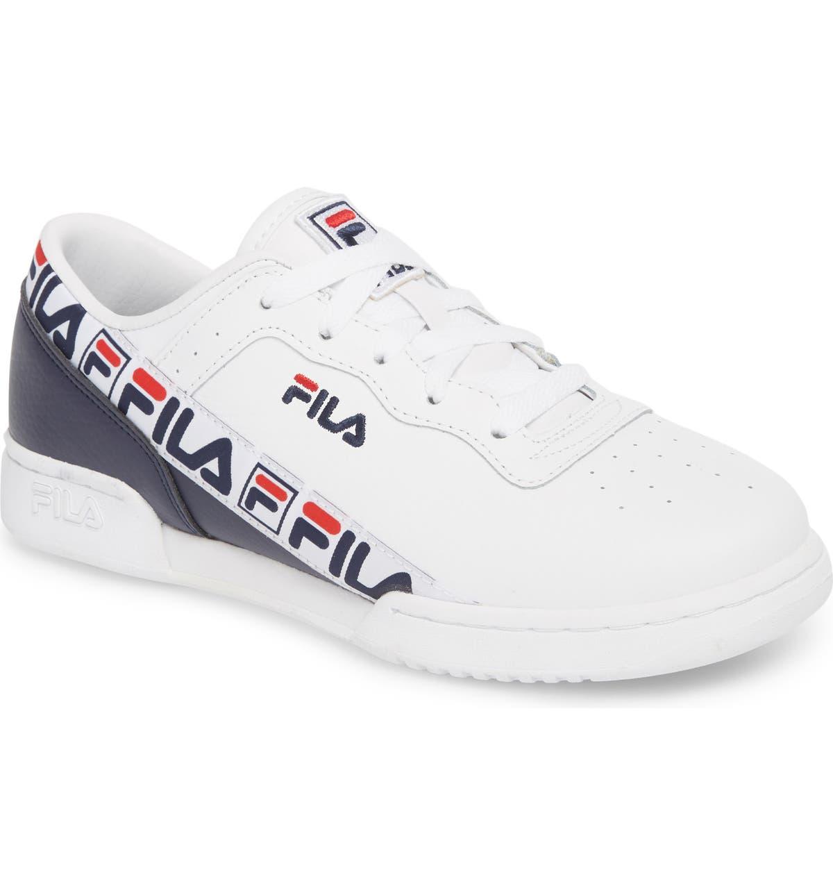 c6dc990203c FILA Original Fitness Logo Tape Sneaker (Big Kid)