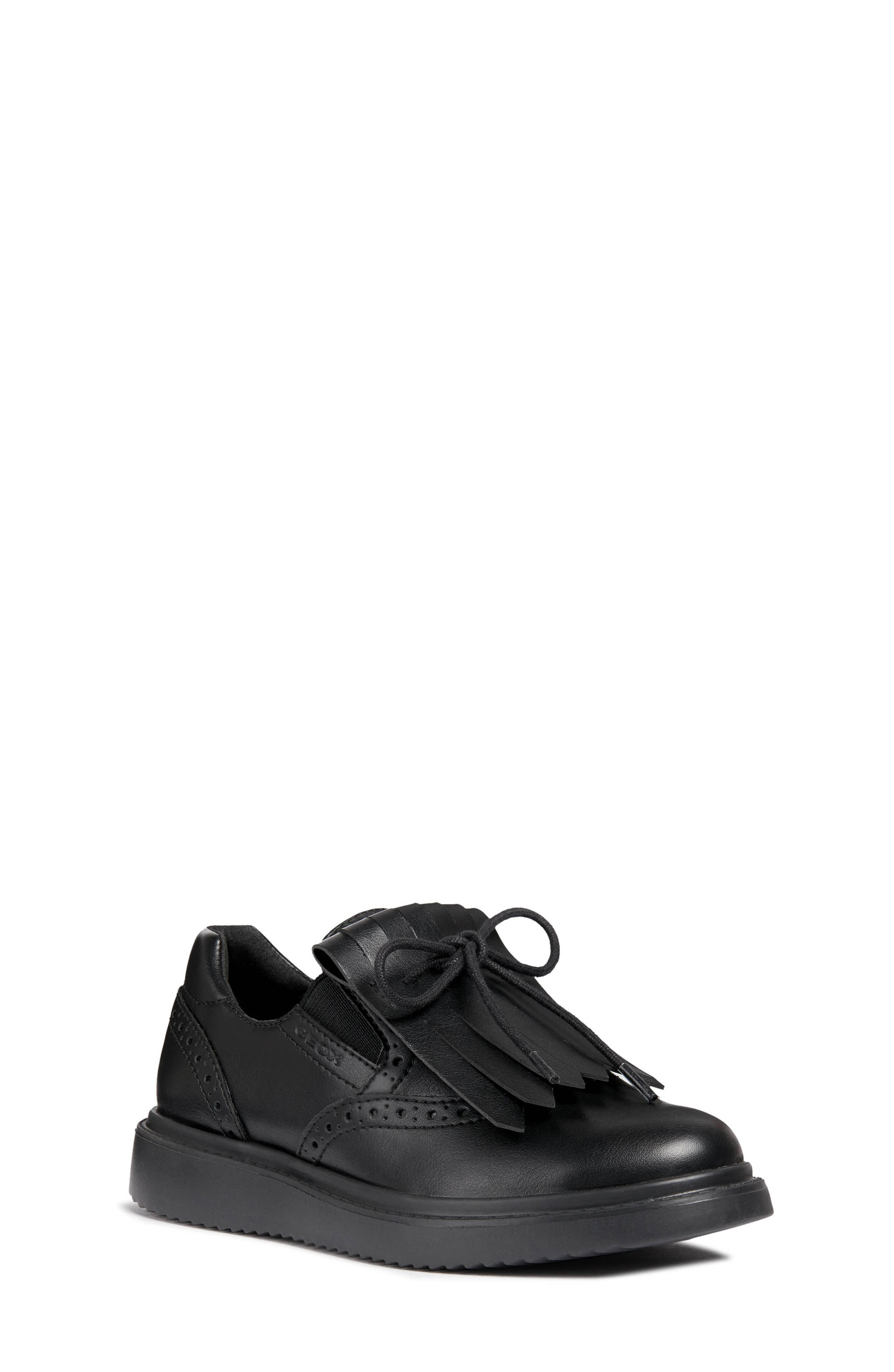 GEOX,                             Thymar Kiltie Fringe Sneaker,                             Main thumbnail 1, color,                             001