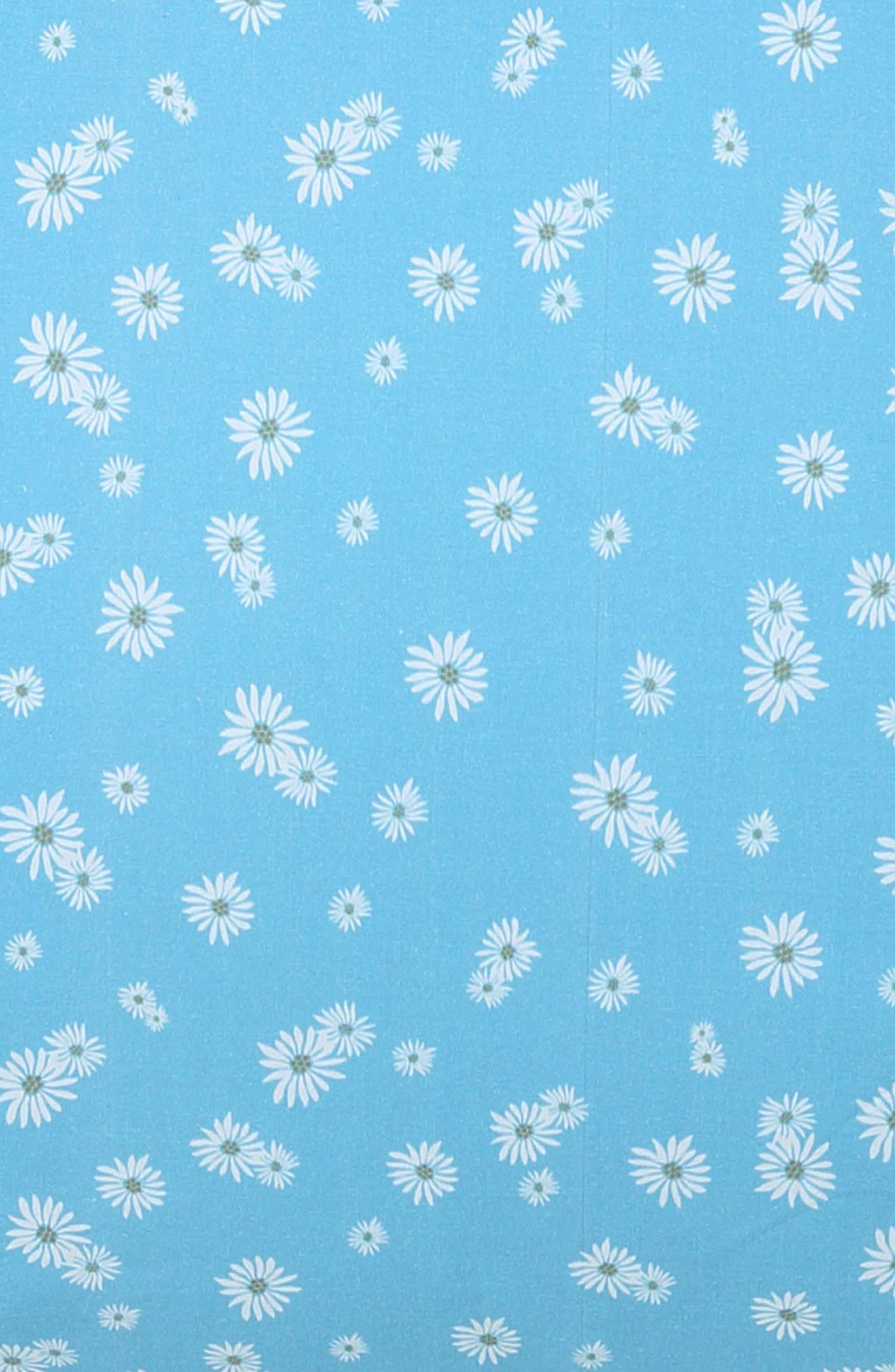 KIP&CO Lazy Daisy Fitted Cotton Sheet, Main, color, 400