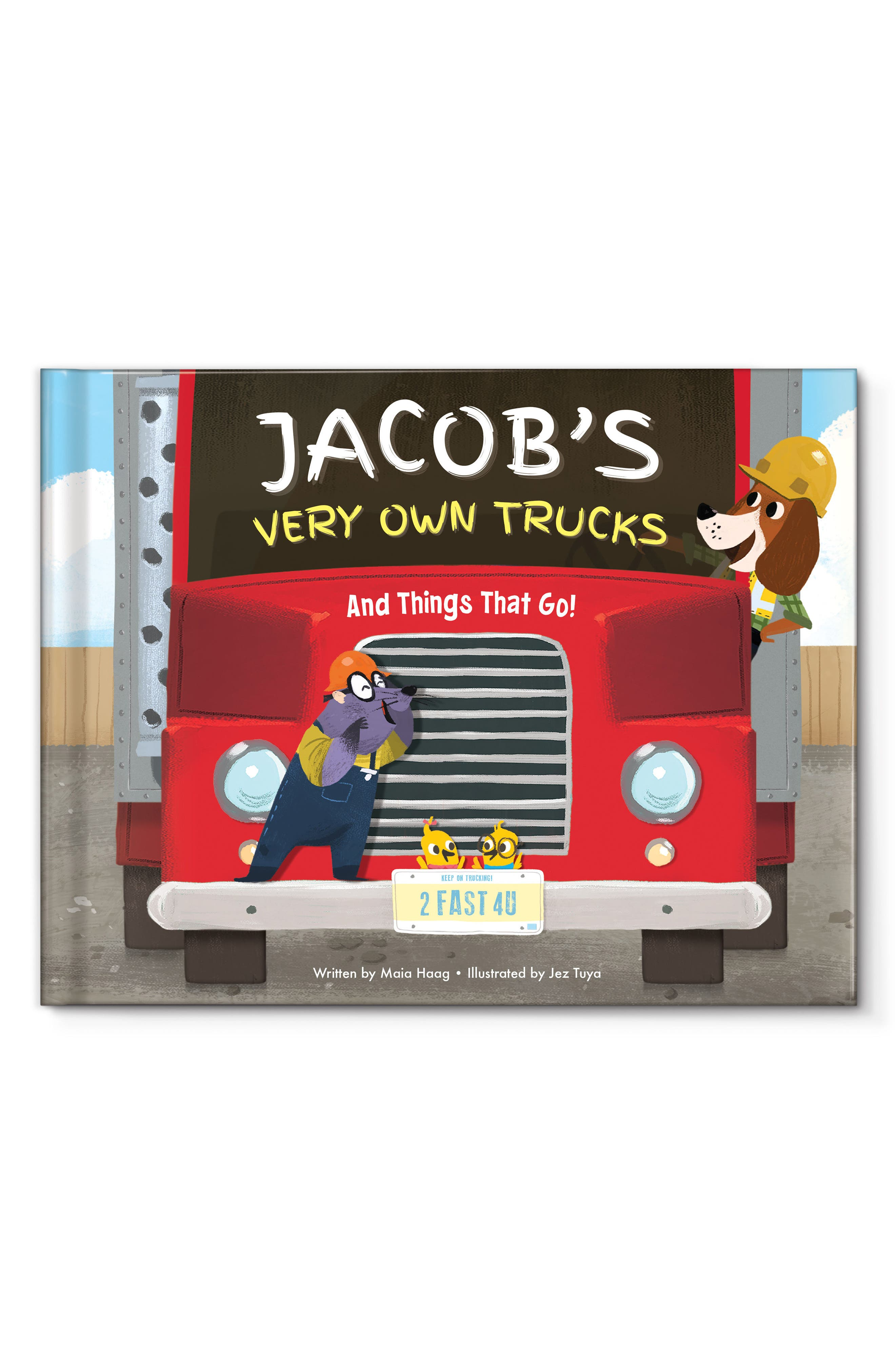 I SEE ME! 'My Very Own Trucks' Personalized Storybook, Main, color, RED