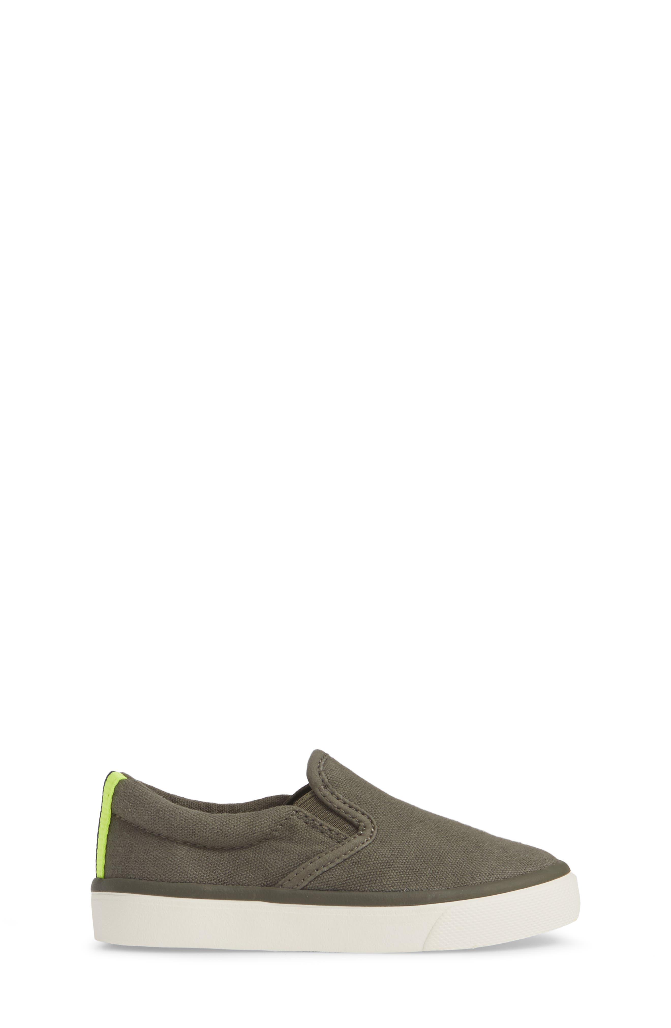 MINI BODEN,                             Slip-On Sneaker,                             Alternate thumbnail 3, color,                             ARMY GREEN