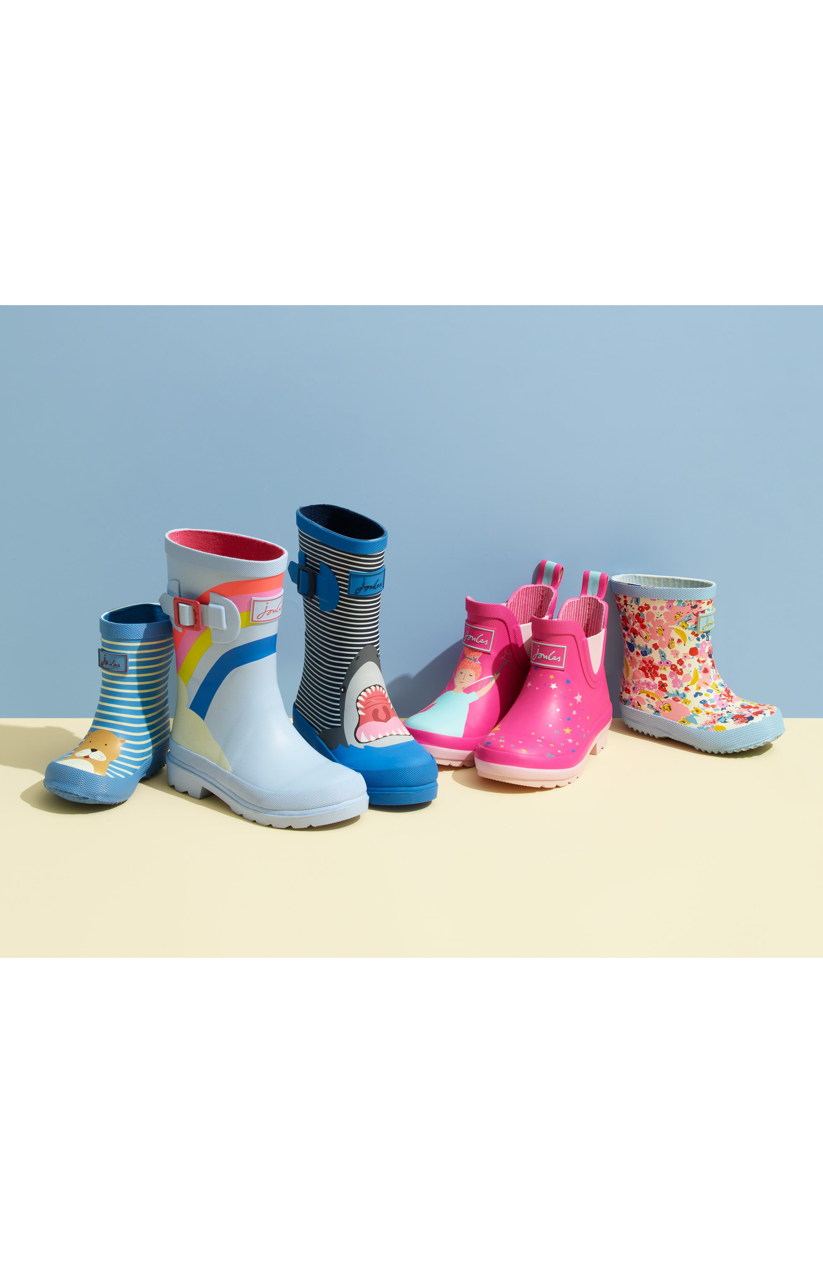 JOULES,                             Baby Welly Print Waterproof Boot,                             Alternate thumbnail 7, color,                             NAVY MAGICAL UNICORN