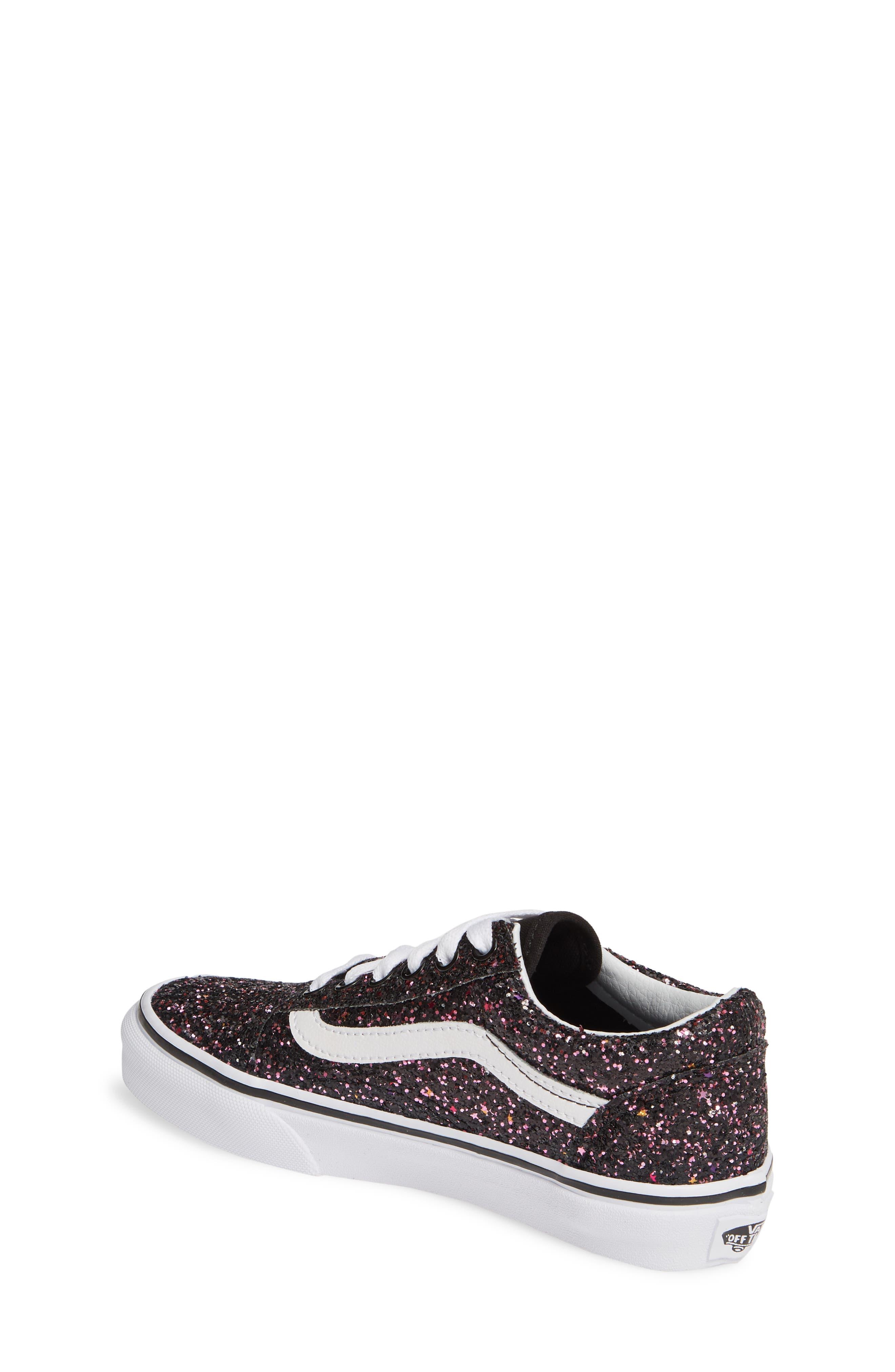 VANS,                             Old Skool Sneaker,                             Alternate thumbnail 2, color,                             GLITTER STARS BLACK/ WHITE