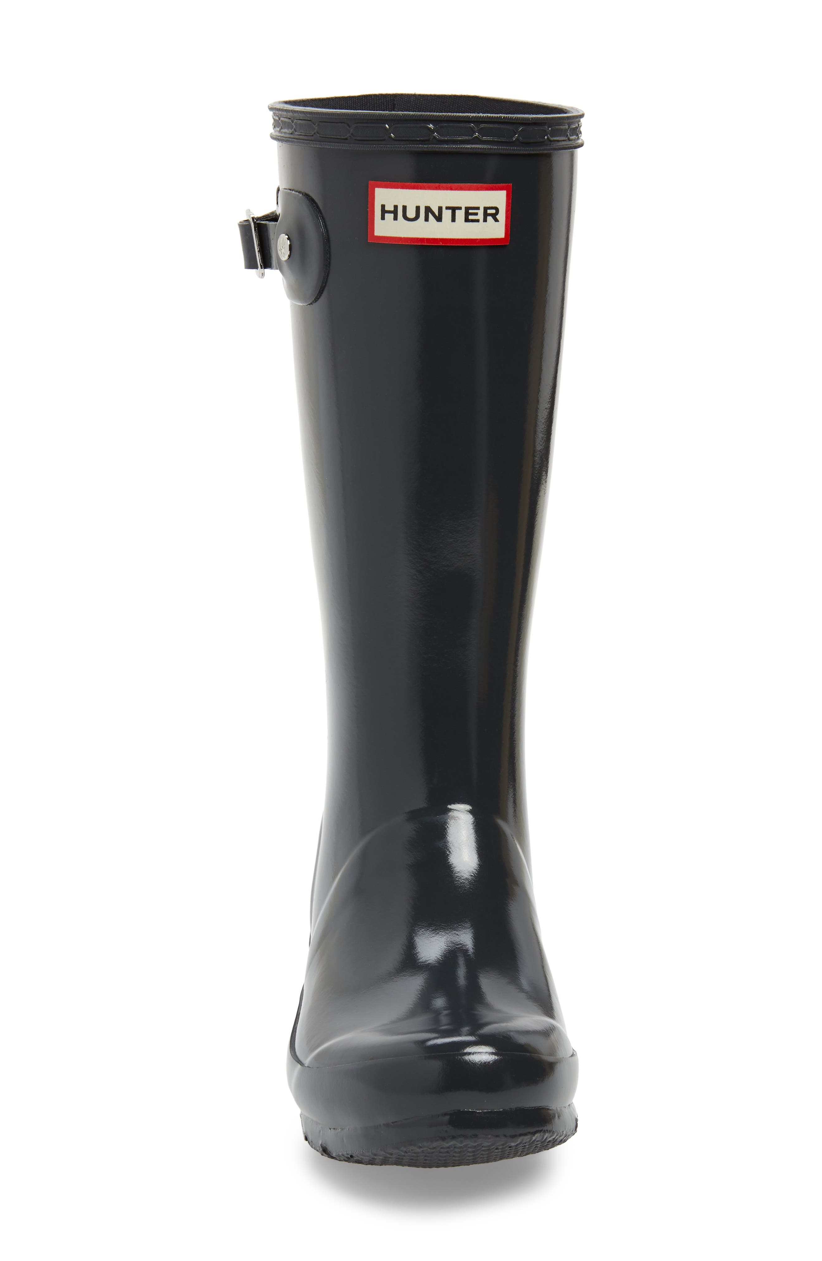 HUNTER,                             Original Gloss Rain Boot,                             Alternate thumbnail 4, color,                             DARK SLATE