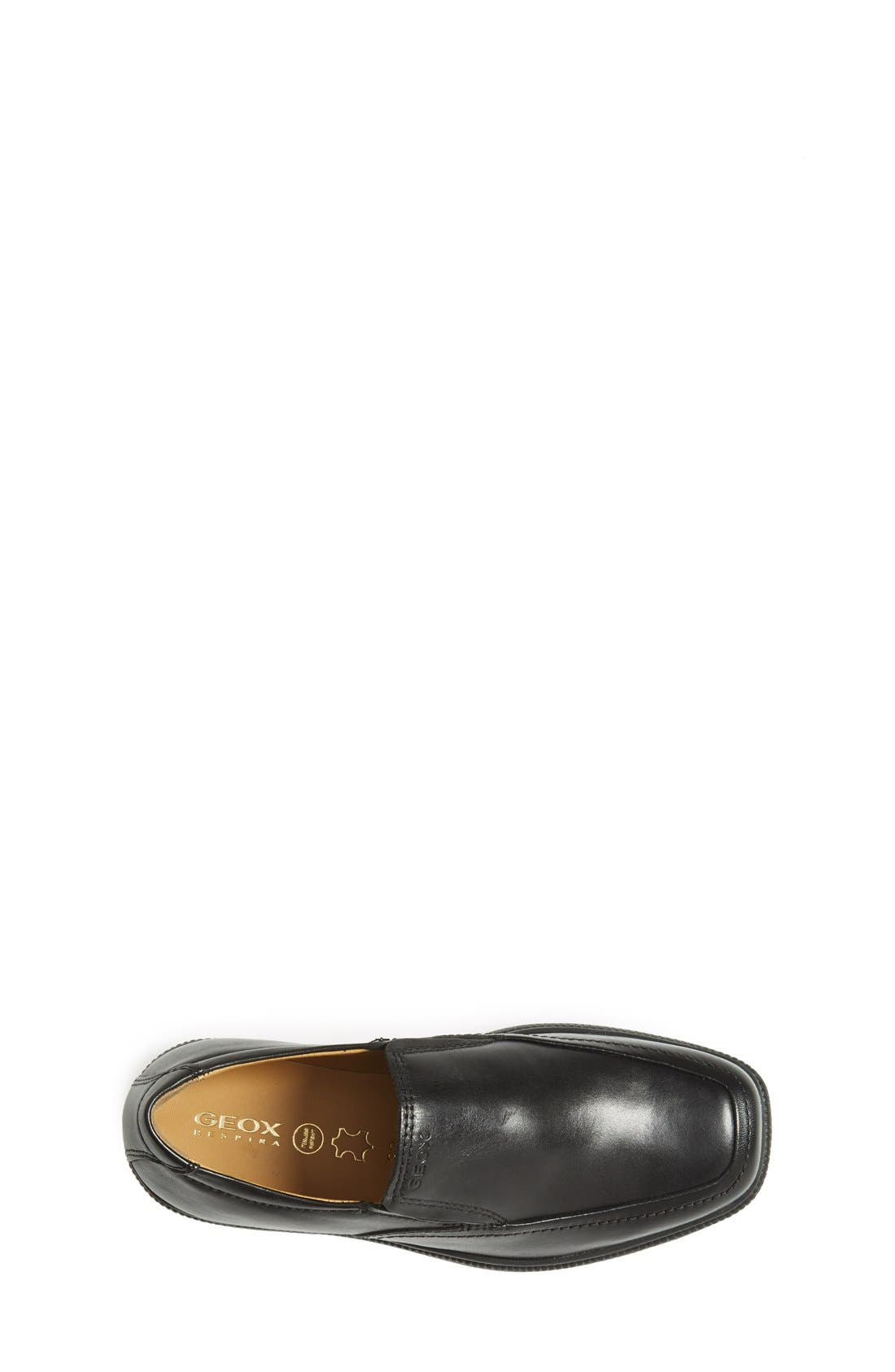 GEOX,                             'Federico' Loafer,                             Alternate thumbnail 3, color,                             BLACK