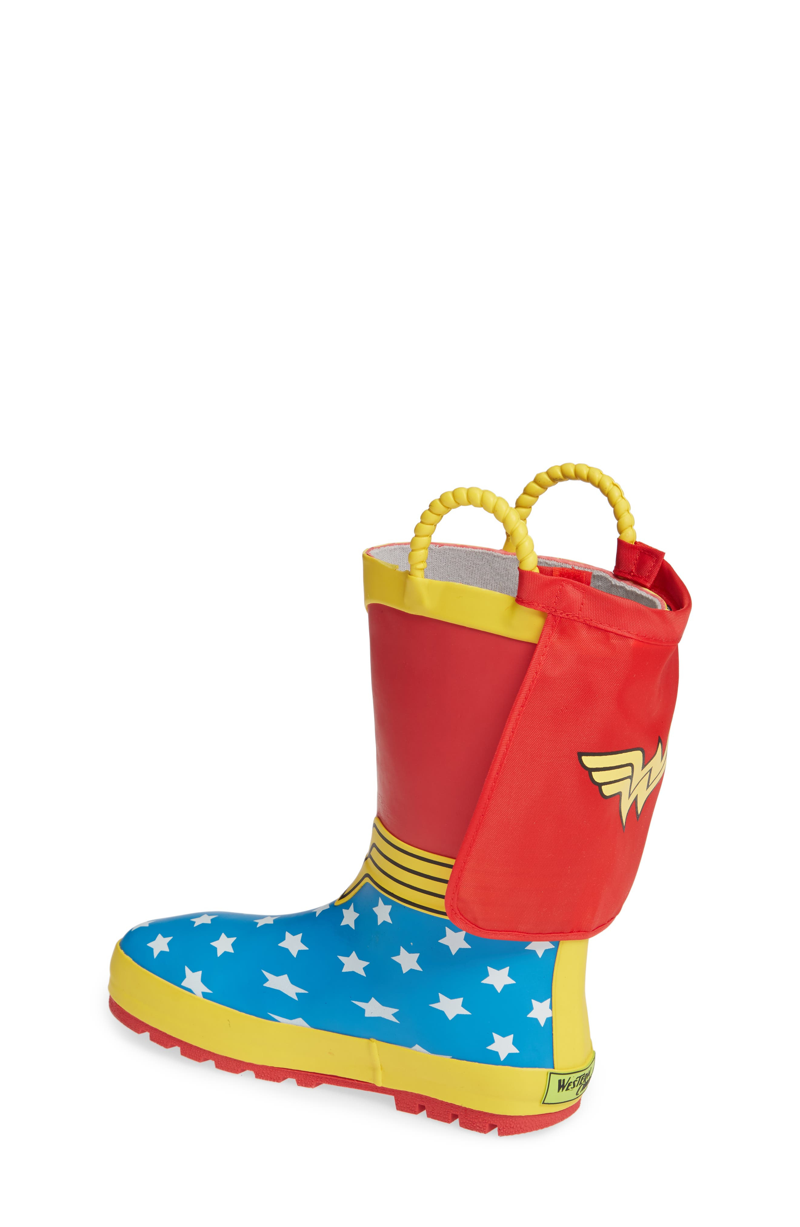 WESTERN CHIEF,                             Wonder Woman Waterproof Rain Boot,                             Alternate thumbnail 2, color,                             RED