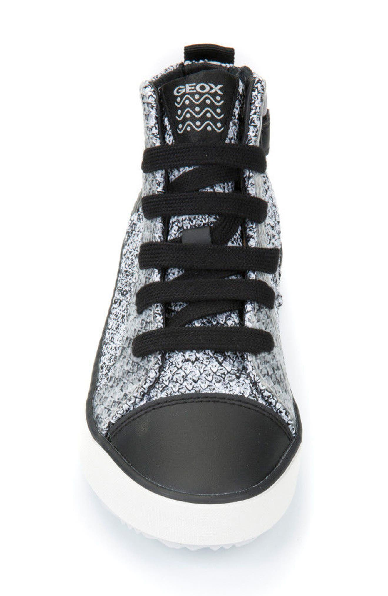 GEOX,                             Alonisso Knit Mid Top Sneaker,                             Alternate thumbnail 4, color,                             115