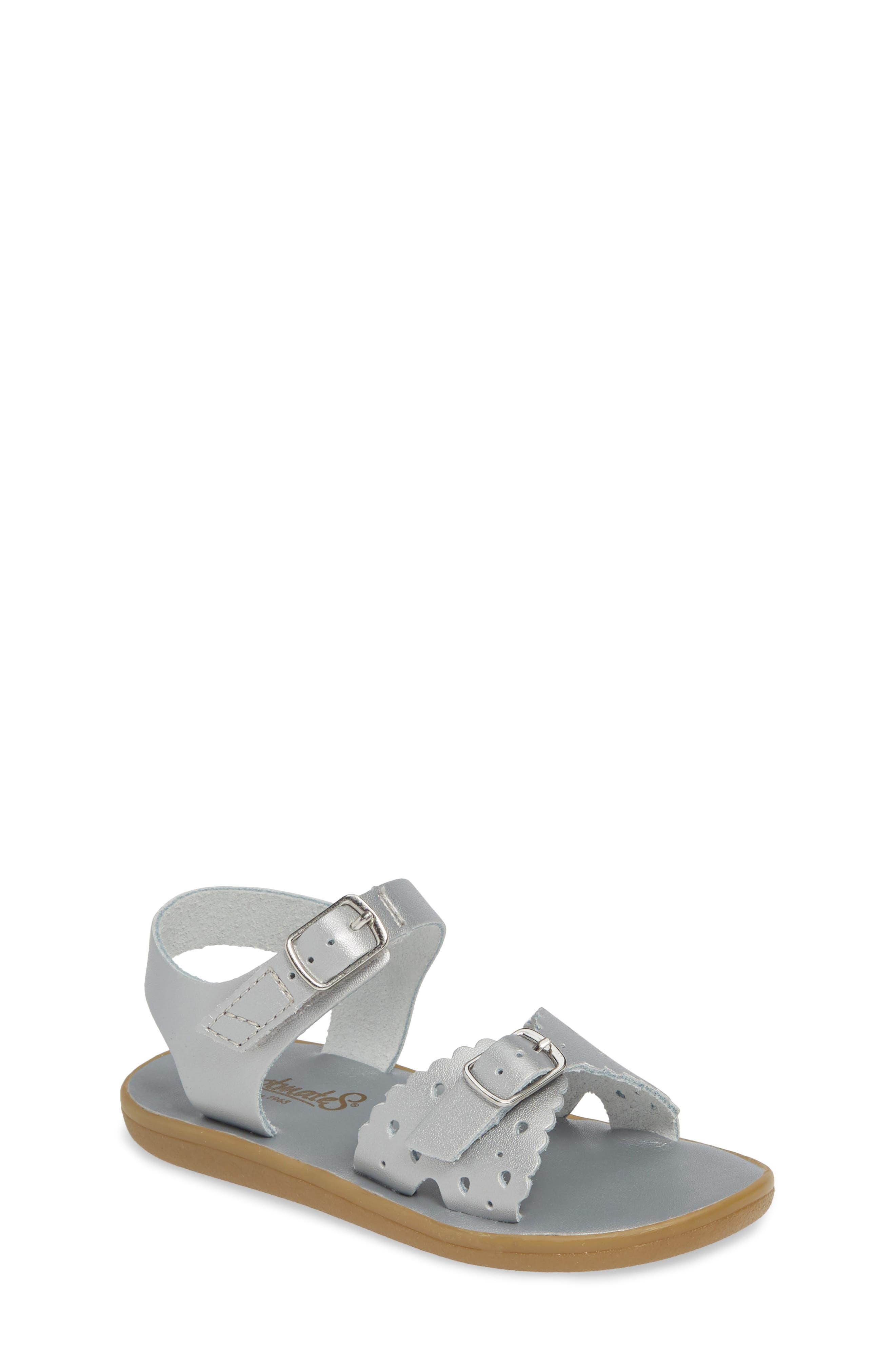 FOOTMATES Arie Waterproof Sandal, Main, color, SILVER