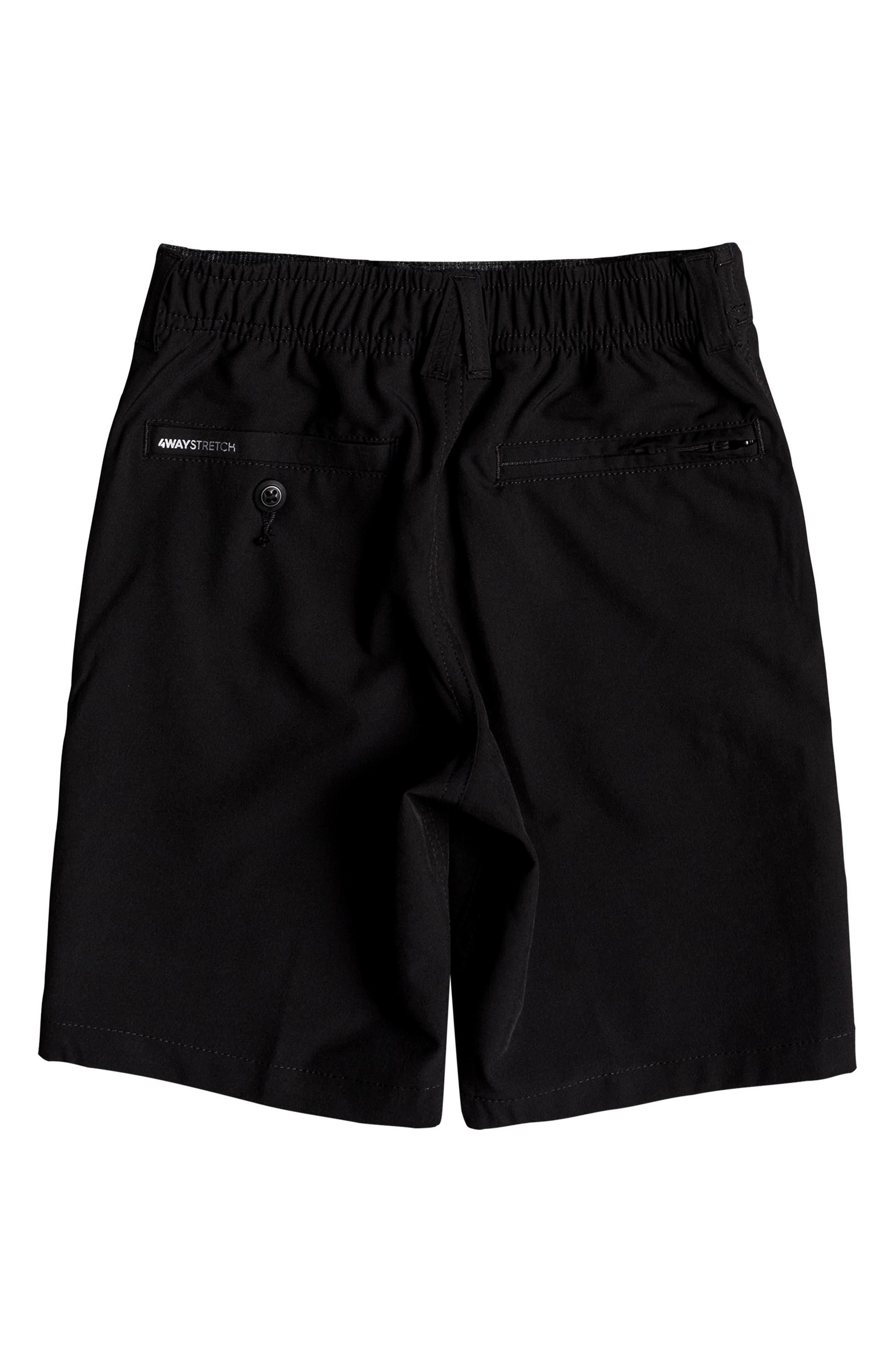 QUIKSILVER,                             Union Amphibian Hybrid Shorts,                             Alternate thumbnail 2, color,                             BLACK