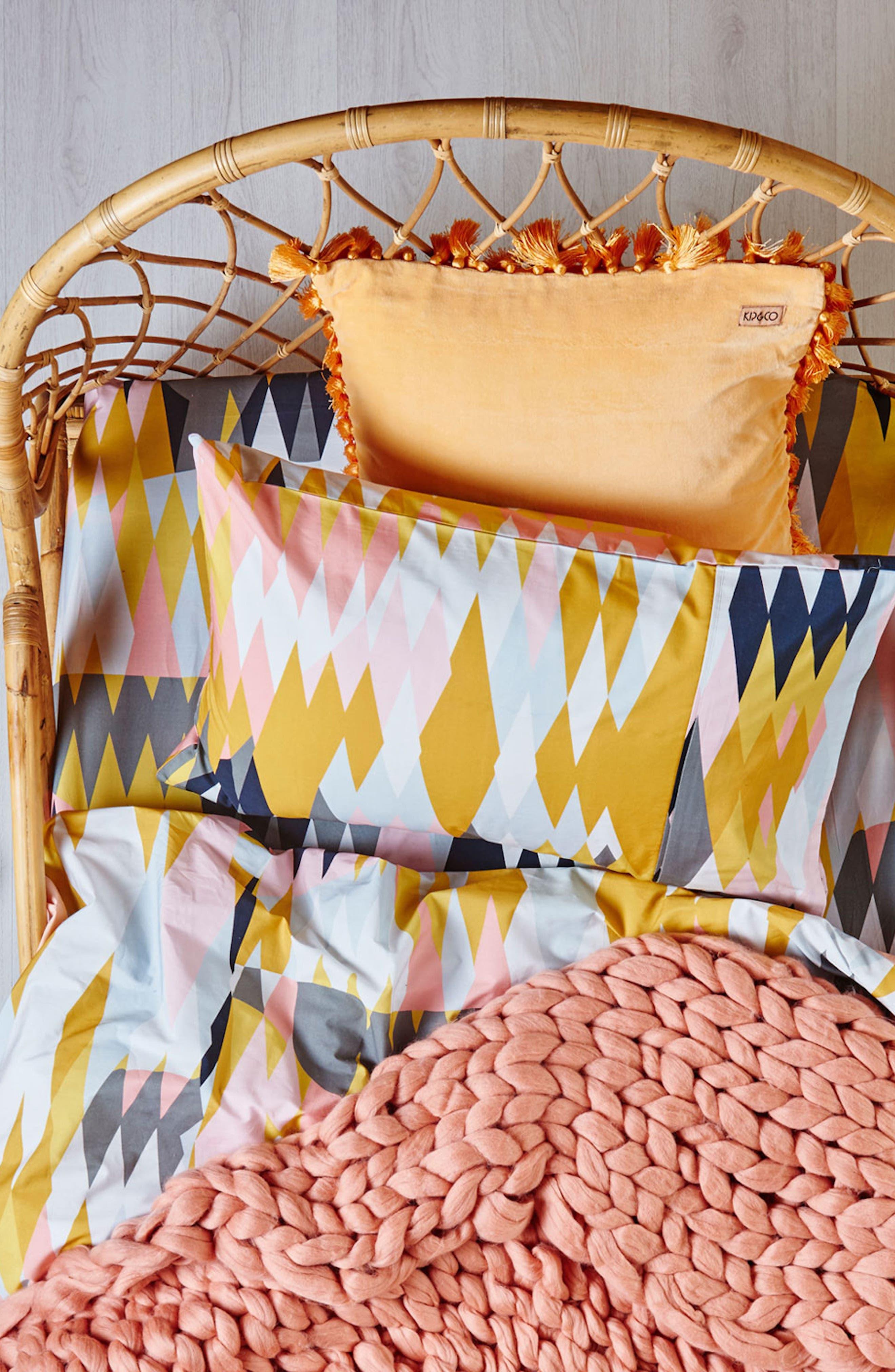 KIP&CO,                             Croc Desert Fitted Cotton Sheet,                             Main thumbnail 1, color,                             100