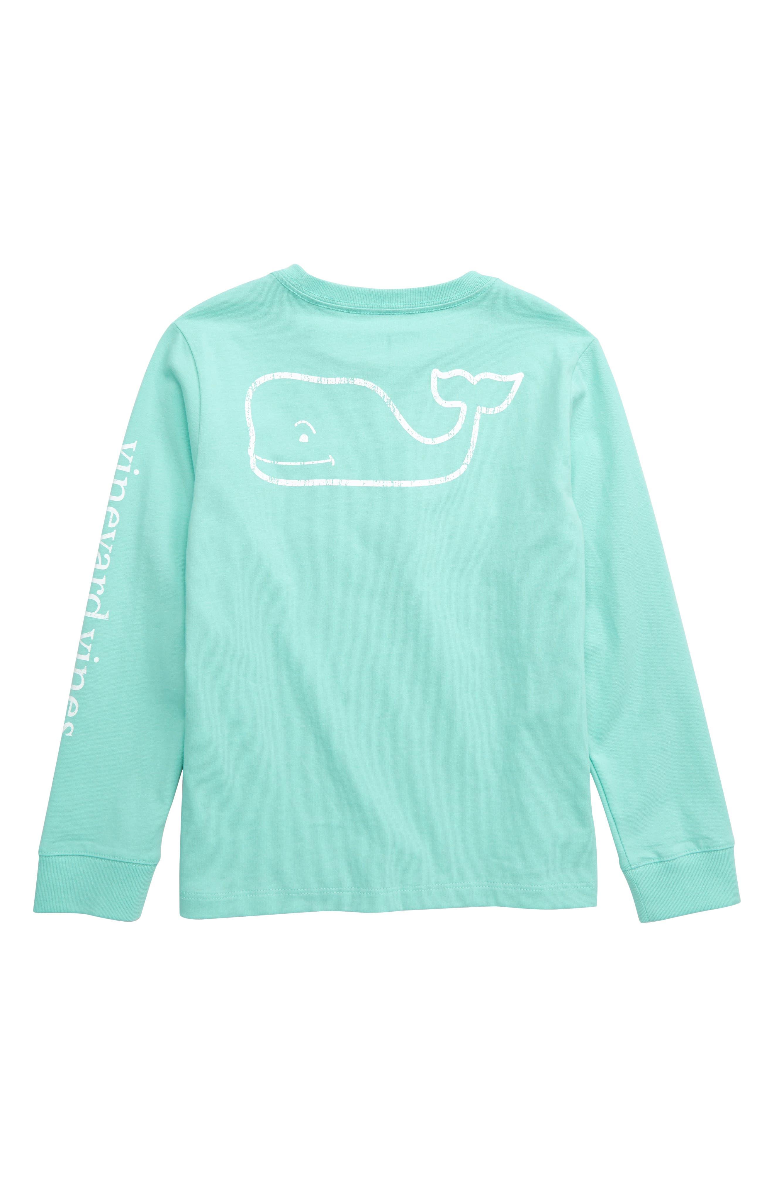 VINEYARD VINES,                             Vintage Whale Graphic Long Sleeve T-Shirt,                             Alternate thumbnail 2, color,                             405