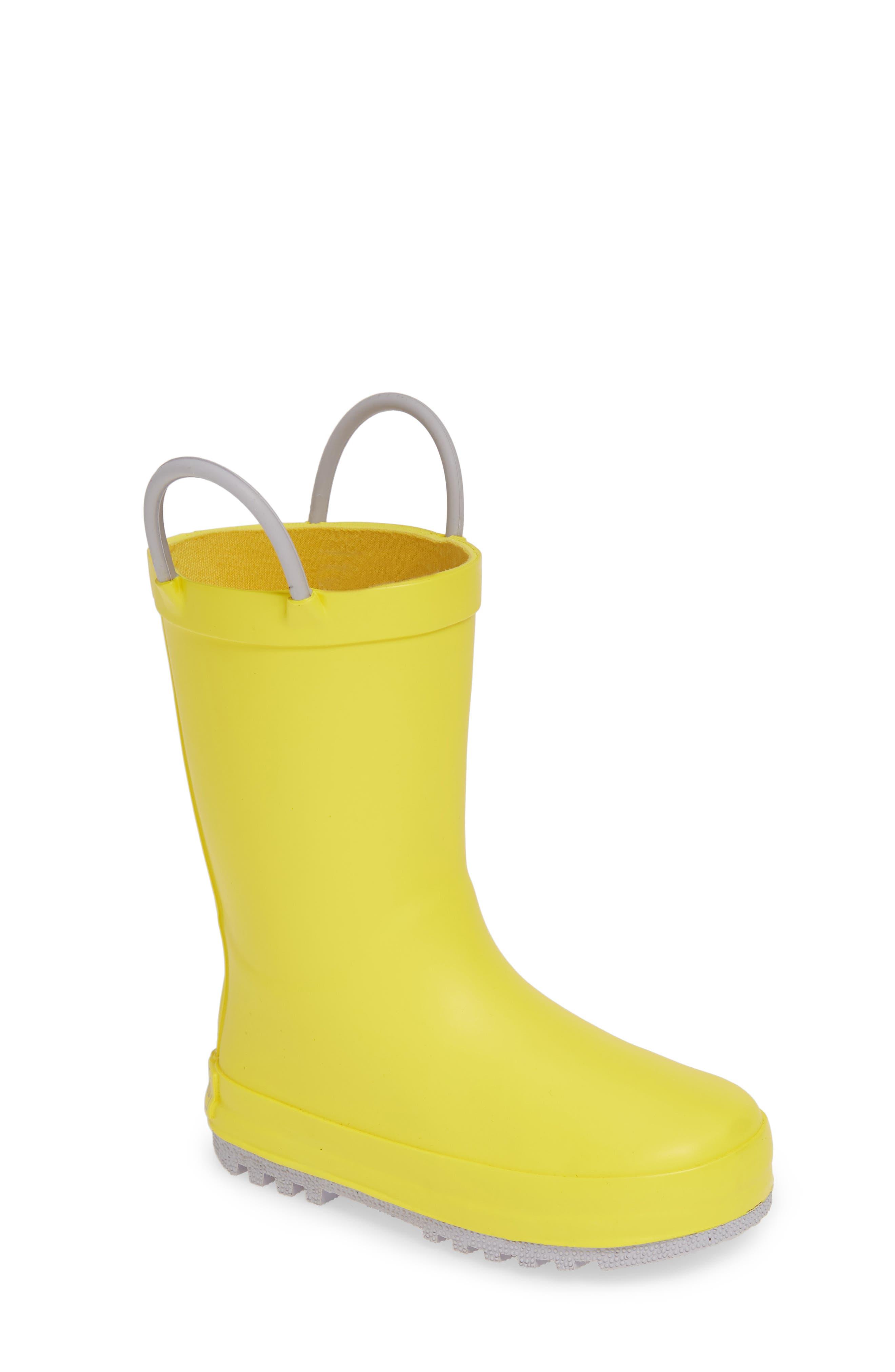 TUCKER + TATE,                             Puddle Rain Boot,                             Main thumbnail 1, color,                             YELLOW/ GREY RUBBER