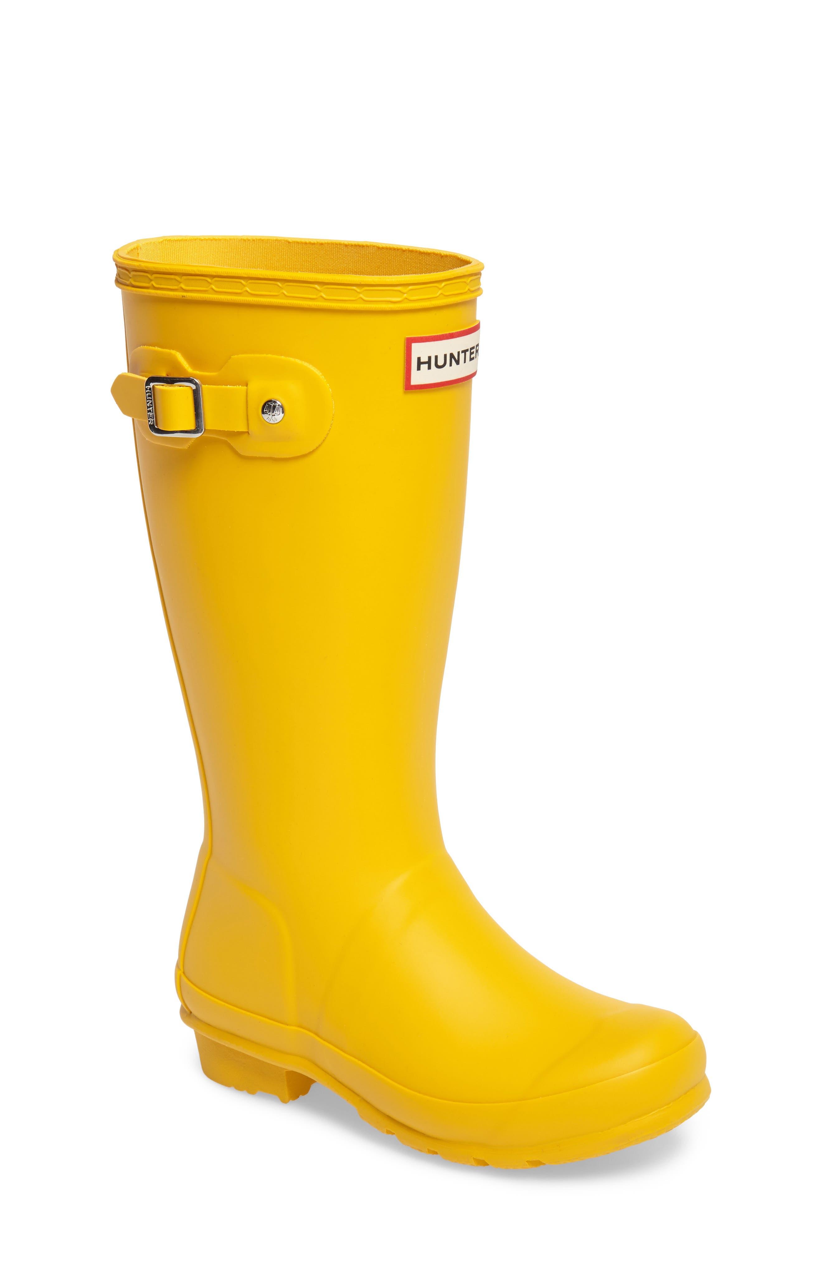 HUNTER Original Rain Boot, Main, color, YELLOW