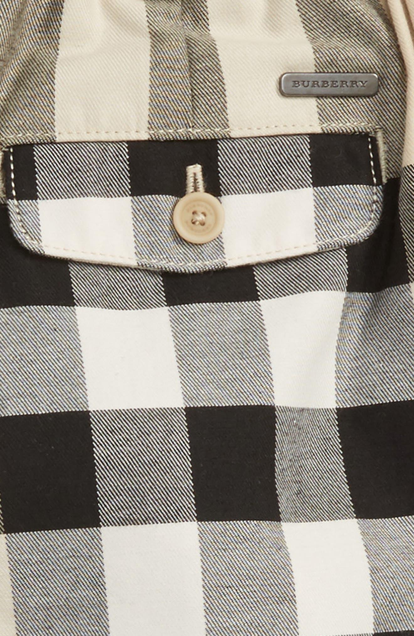 BURBERRY,                             Sean Check Print Shorts,                             Alternate thumbnail 3, color,                             250