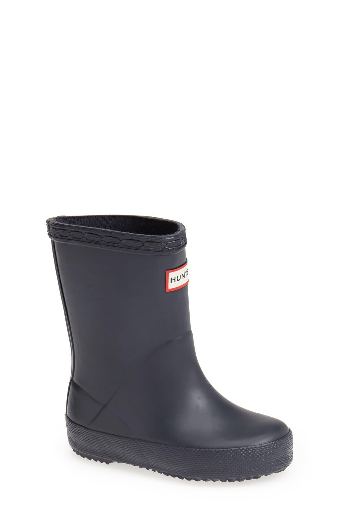 HUNTER,                             First Classic Waterproof Rain Boot,                             Main thumbnail 1, color,                             NAVY