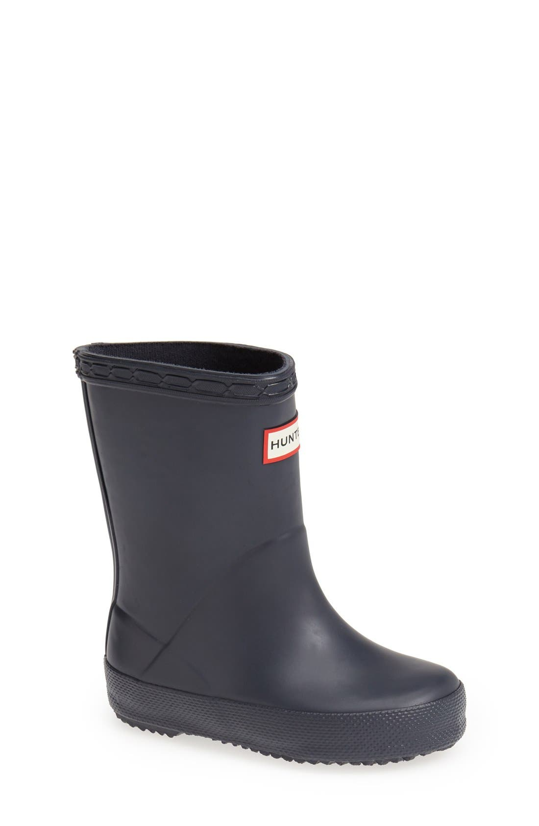 HUNTER First Classic Waterproof Rain Boot, Main, color, NAVY
