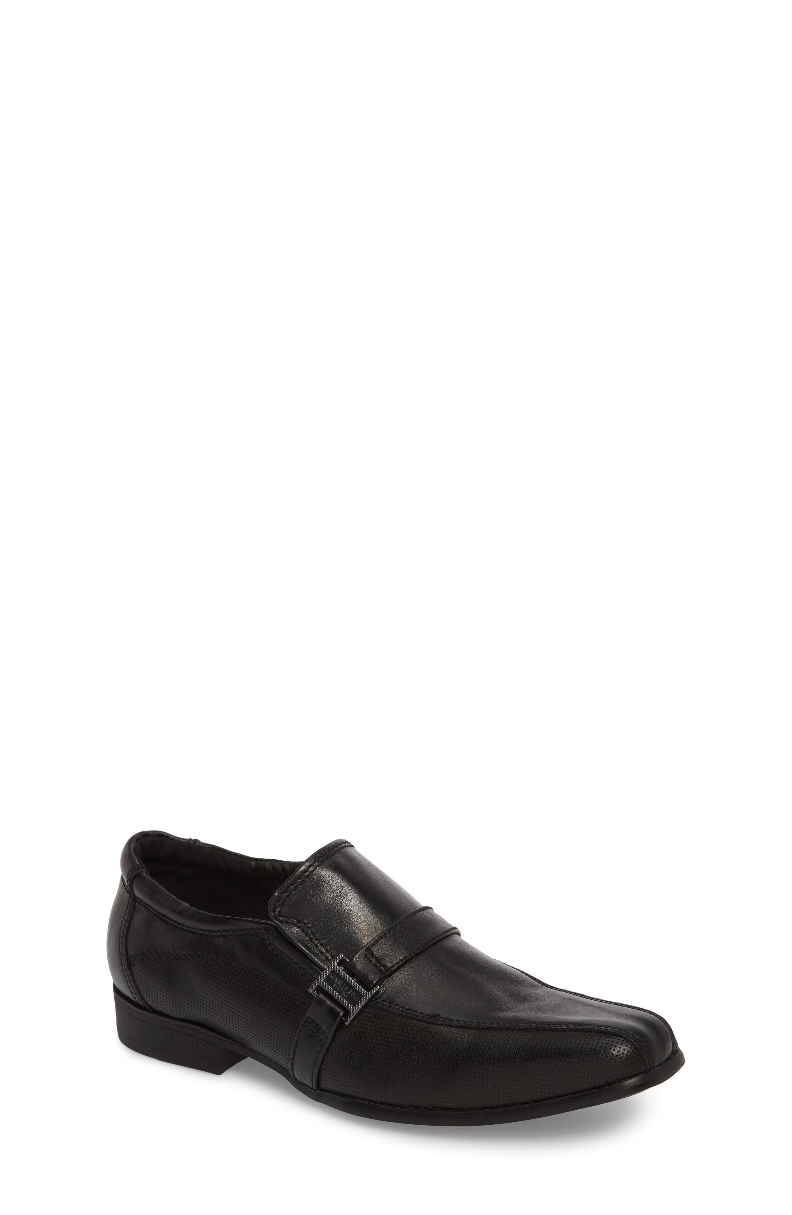 KENNETH COLE NEW YORK,                             Magic News Venetian Loafer,                             Main thumbnail 1, color,                             BLACK