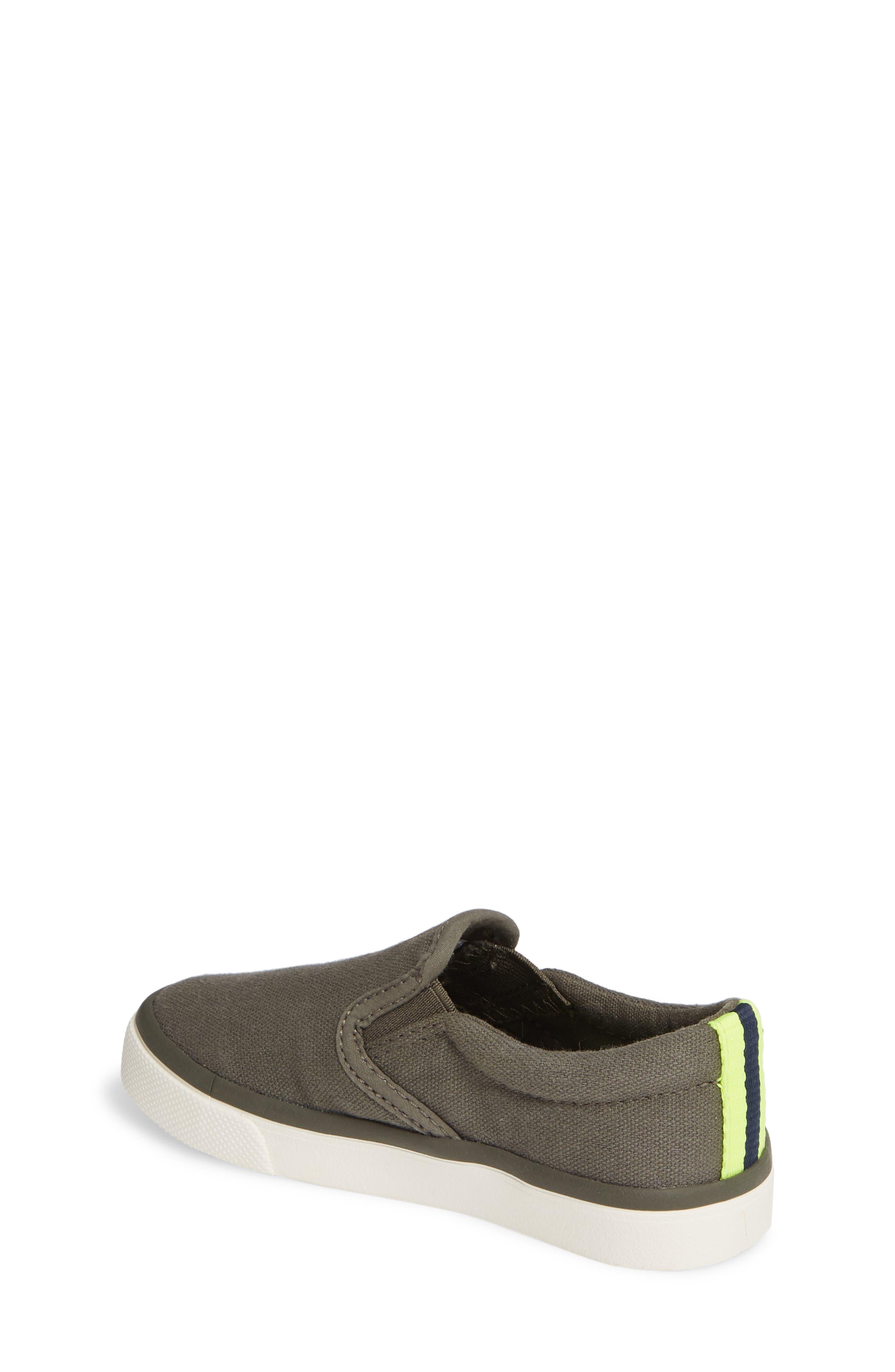 MINI BODEN,                             Slip-On Sneaker,                             Alternate thumbnail 2, color,                             ARMY GREEN