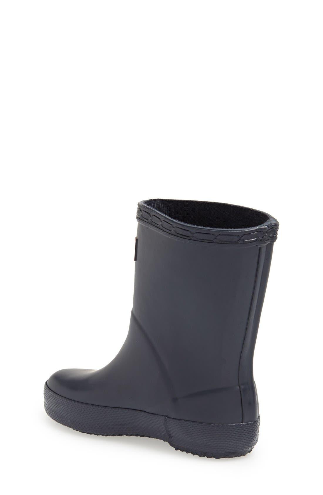HUNTER,                             First Classic Waterproof Rain Boot,                             Alternate thumbnail 8, color,                             NAVY
