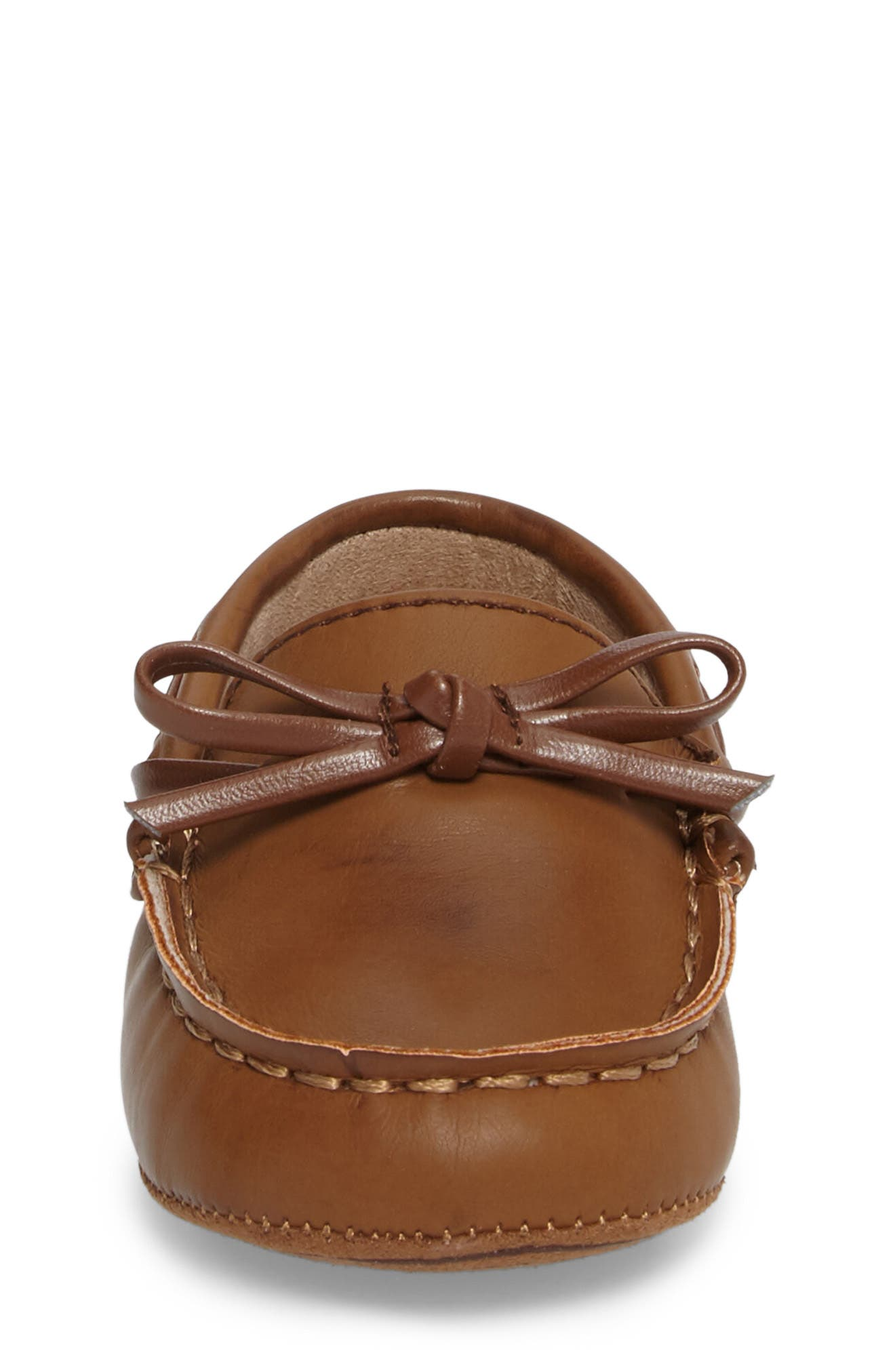 KENNETH COLE NEW YORK,                             Baby Boat Shoe,                             Alternate thumbnail 4, color,                             CARAMEL