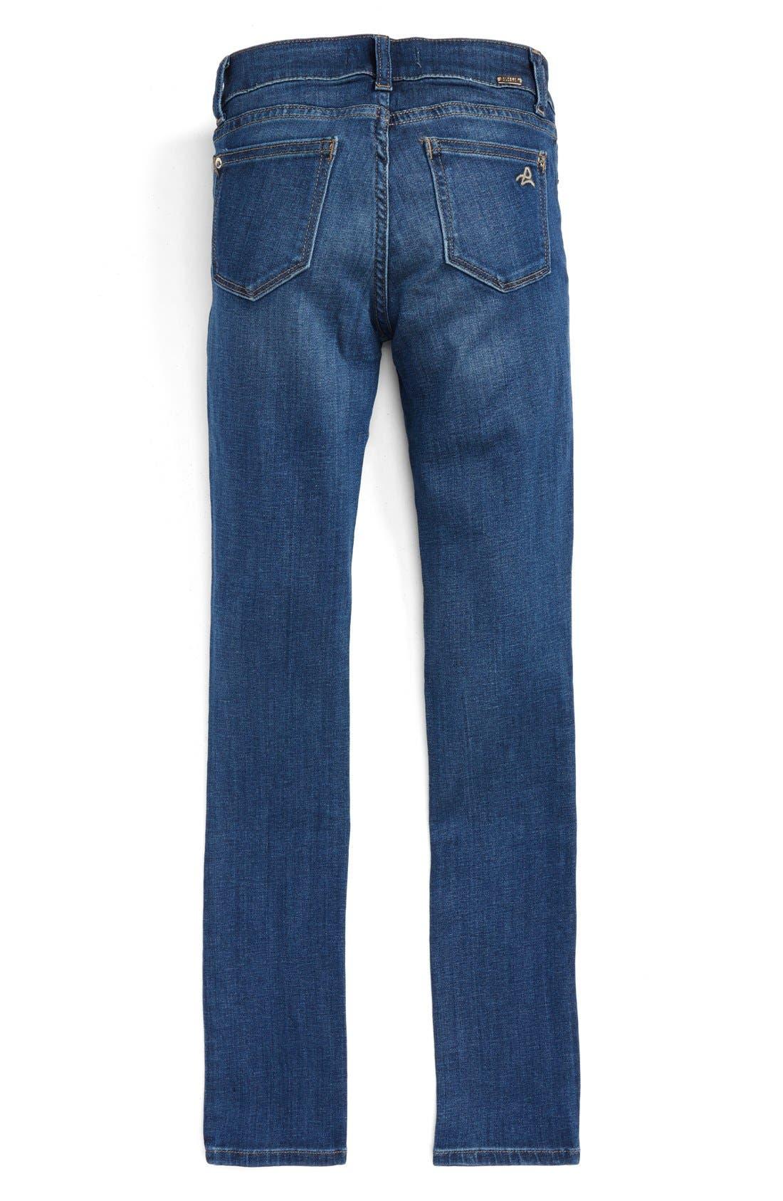 DL1961,                             Chloe Mid Rise Skinny Jeans,                             Alternate thumbnail 2, color,                             PARULA