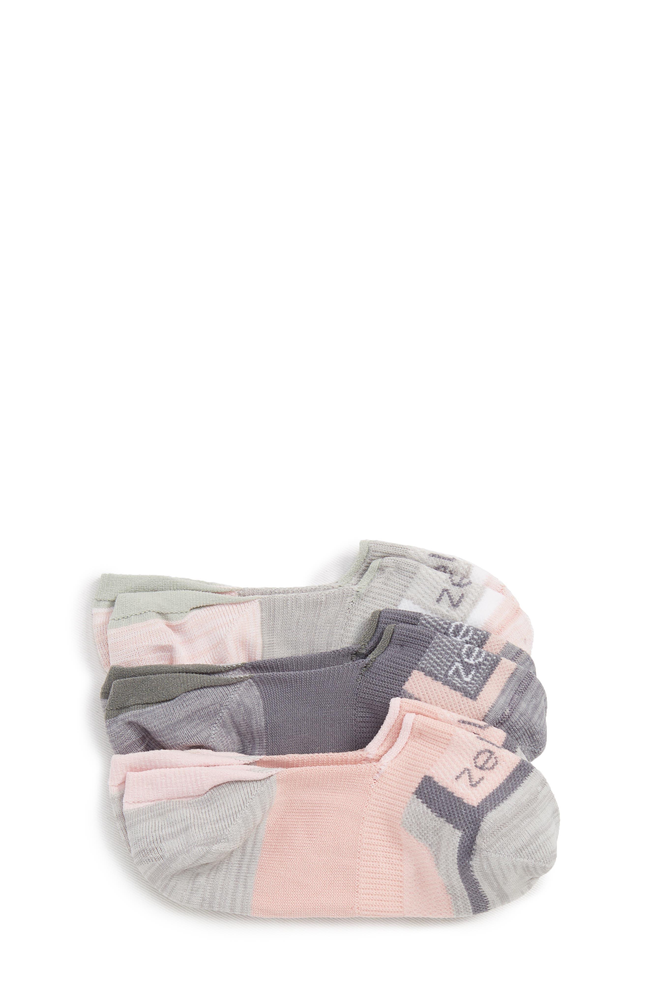 ZELLA GIRL Secret 3-Pack No-Show Socks, Main, color, 680