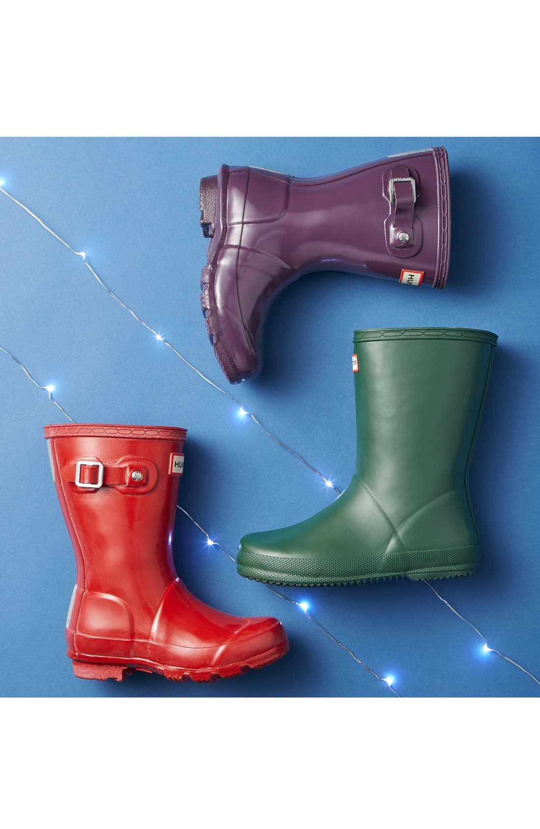 HUNTER,                             'First Gloss' Rain Boot,                             Alternate thumbnail 7, color,                             VIOLET