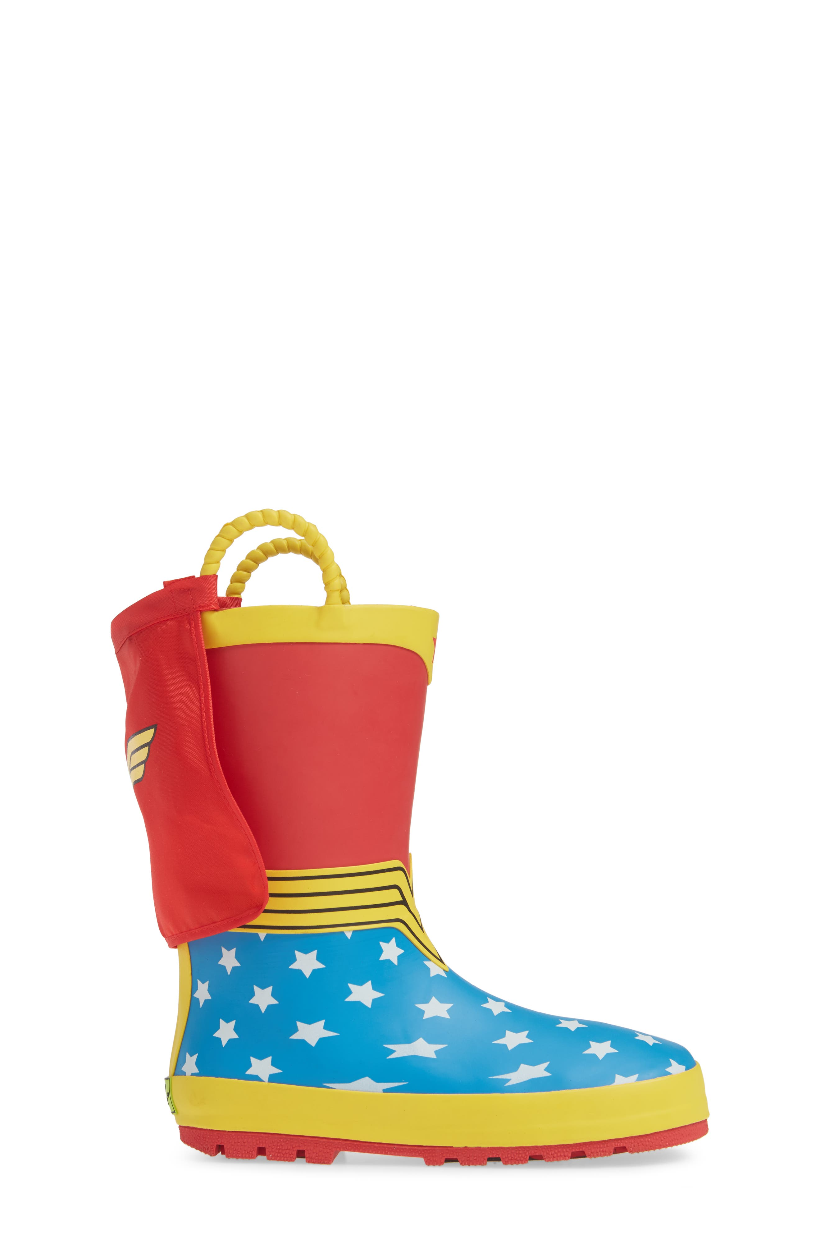 WESTERN CHIEF,                             Wonder Woman Waterproof Rain Boot,                             Alternate thumbnail 3, color,                             RED