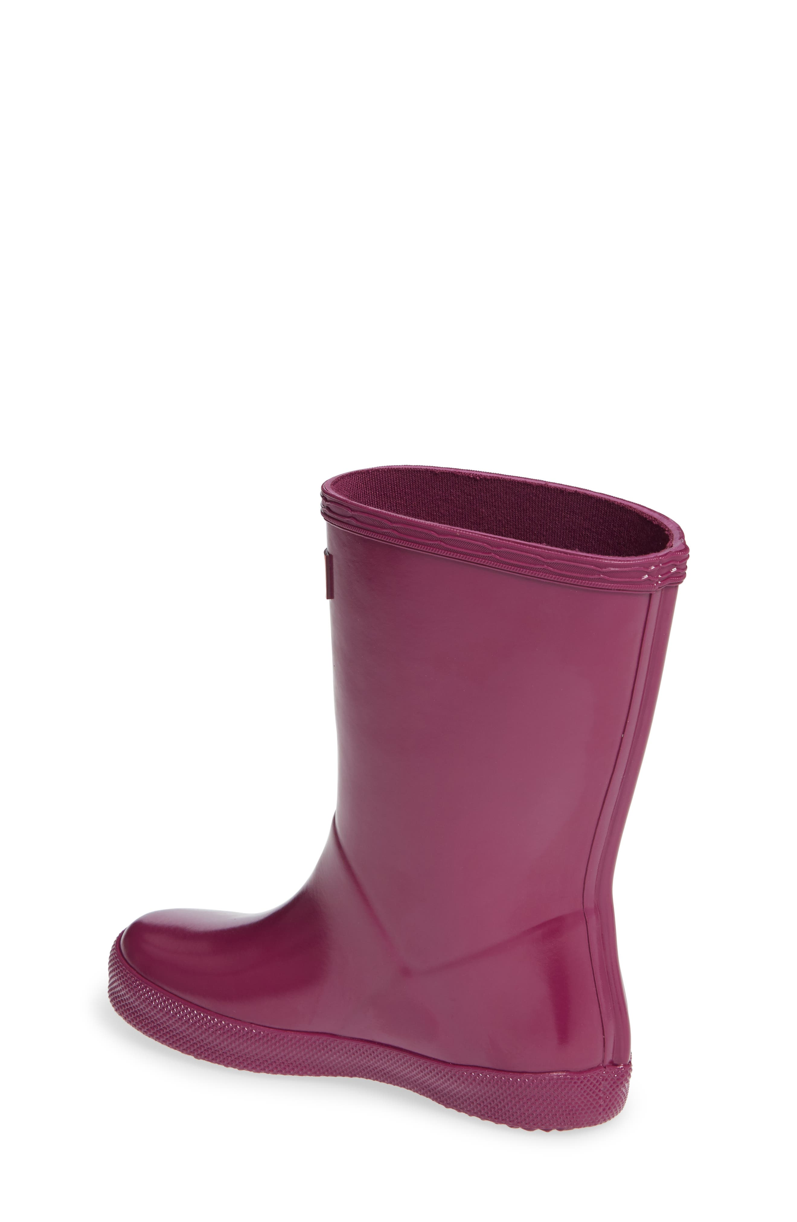 HUNTER,                             'First Gloss' Rain Boot,                             Alternate thumbnail 2, color,                             VIOLET