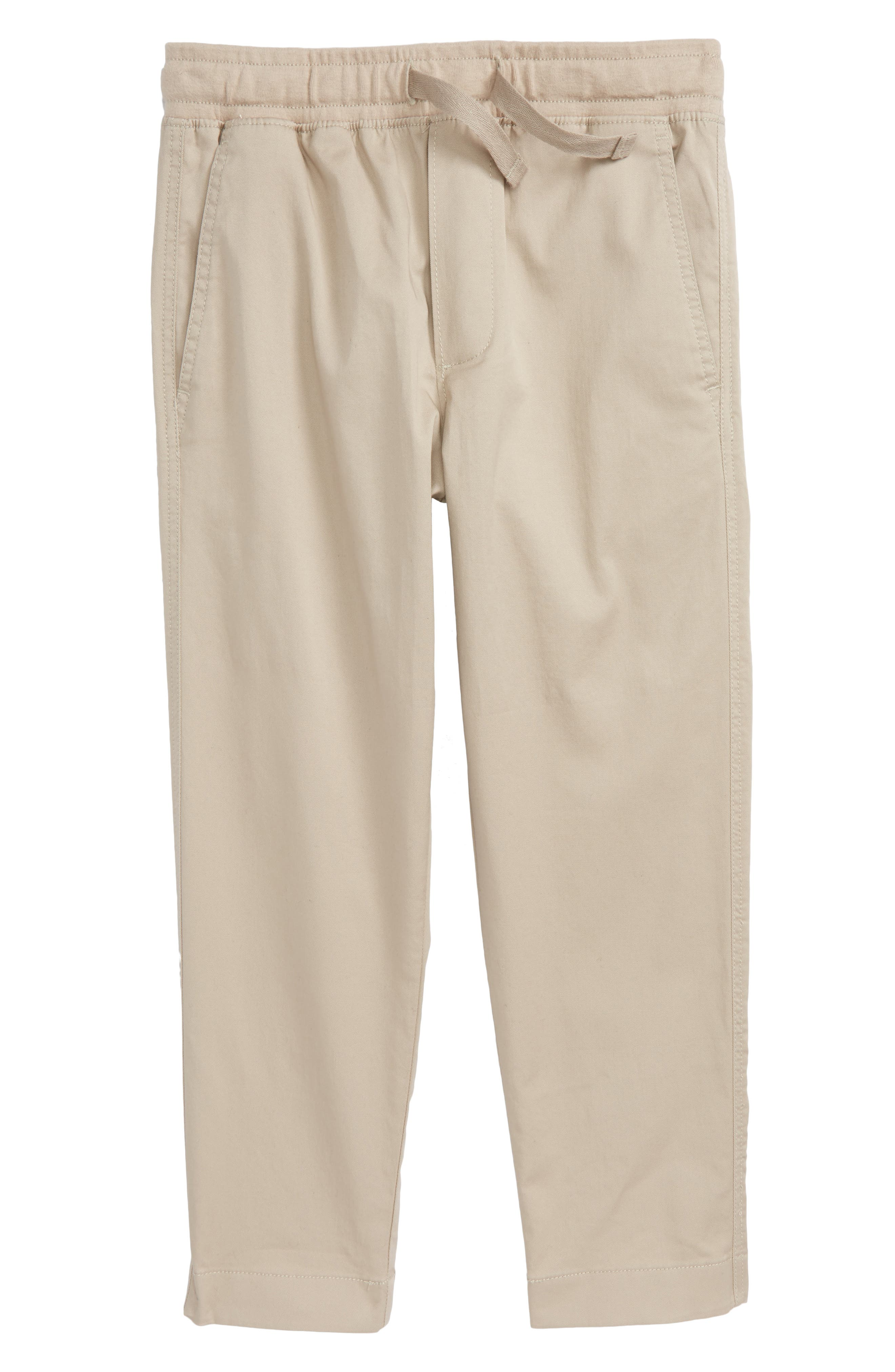 CREWCUTS BY J.CREW Pull On Pants, Main, color, KHAKI
