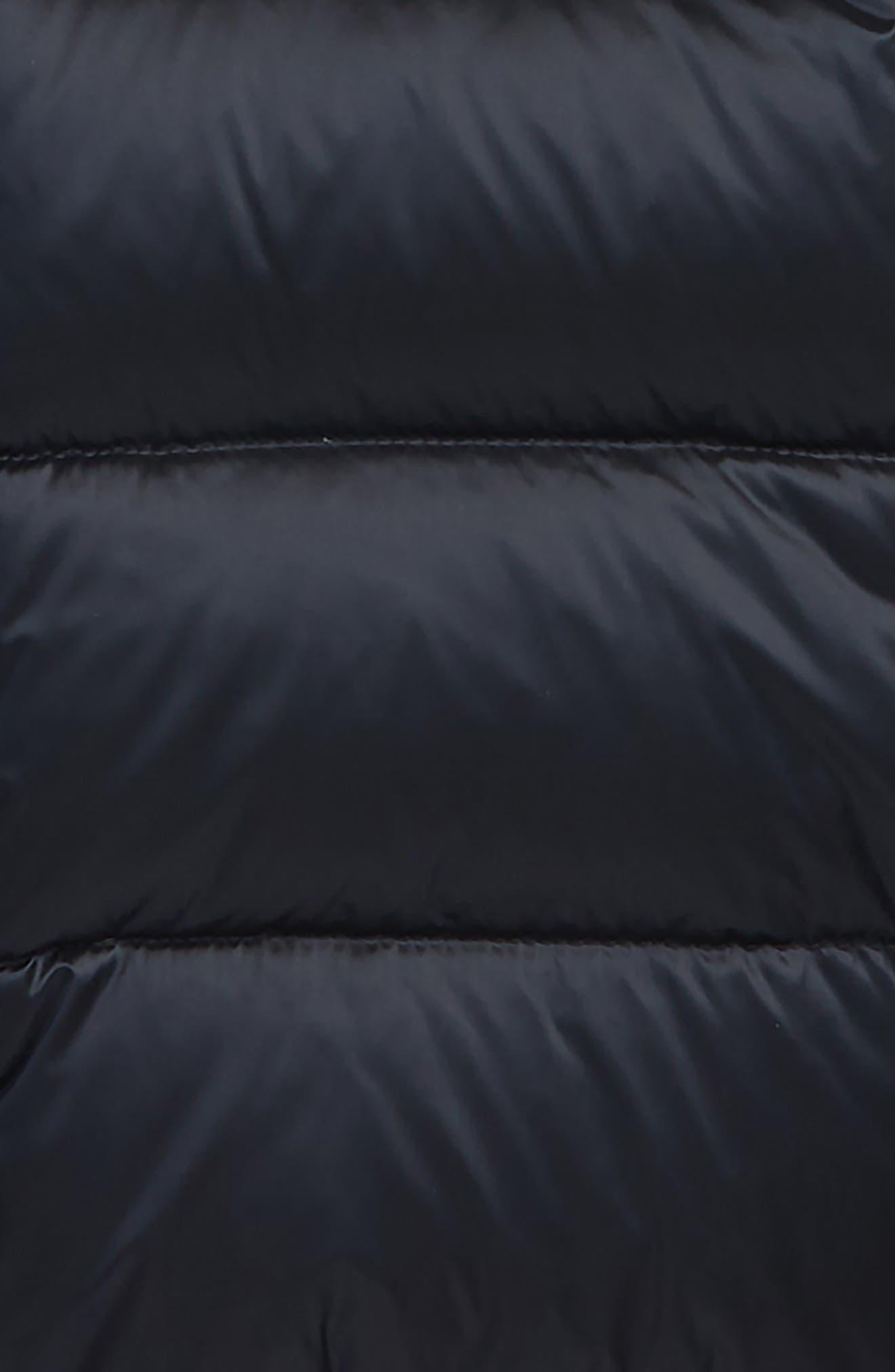 MONCLER,                             Anemonet Ruffle Trim Jacket,                             Alternate thumbnail 2, color,                             NAVY
