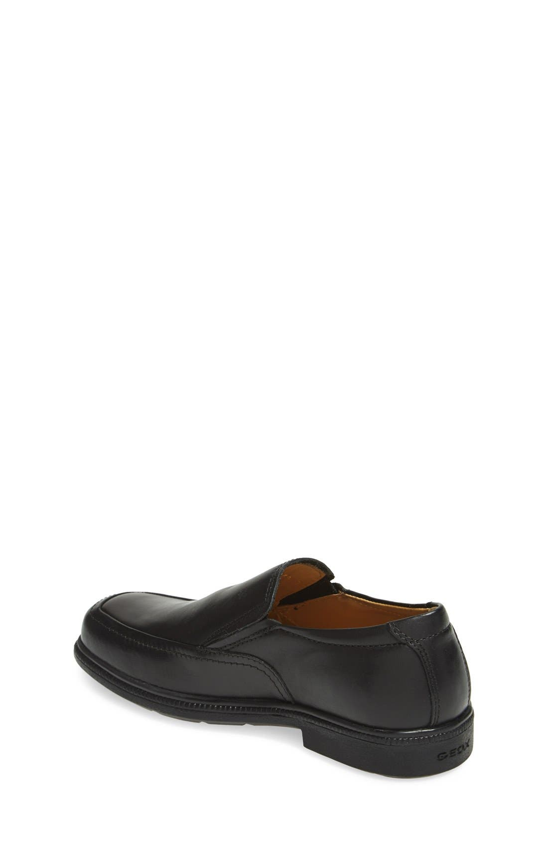 GEOX,                             'Federico' Loafer,                             Alternate thumbnail 2, color,                             BLACK
