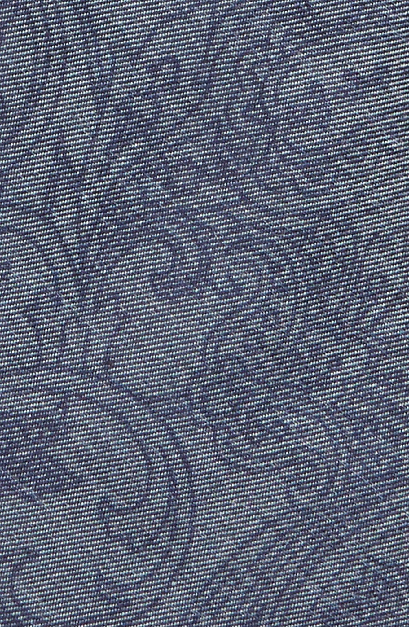 NORDSTROM,                             Paisley Cotton Blend Tie,                             Alternate thumbnail 2, color,                             NAVY