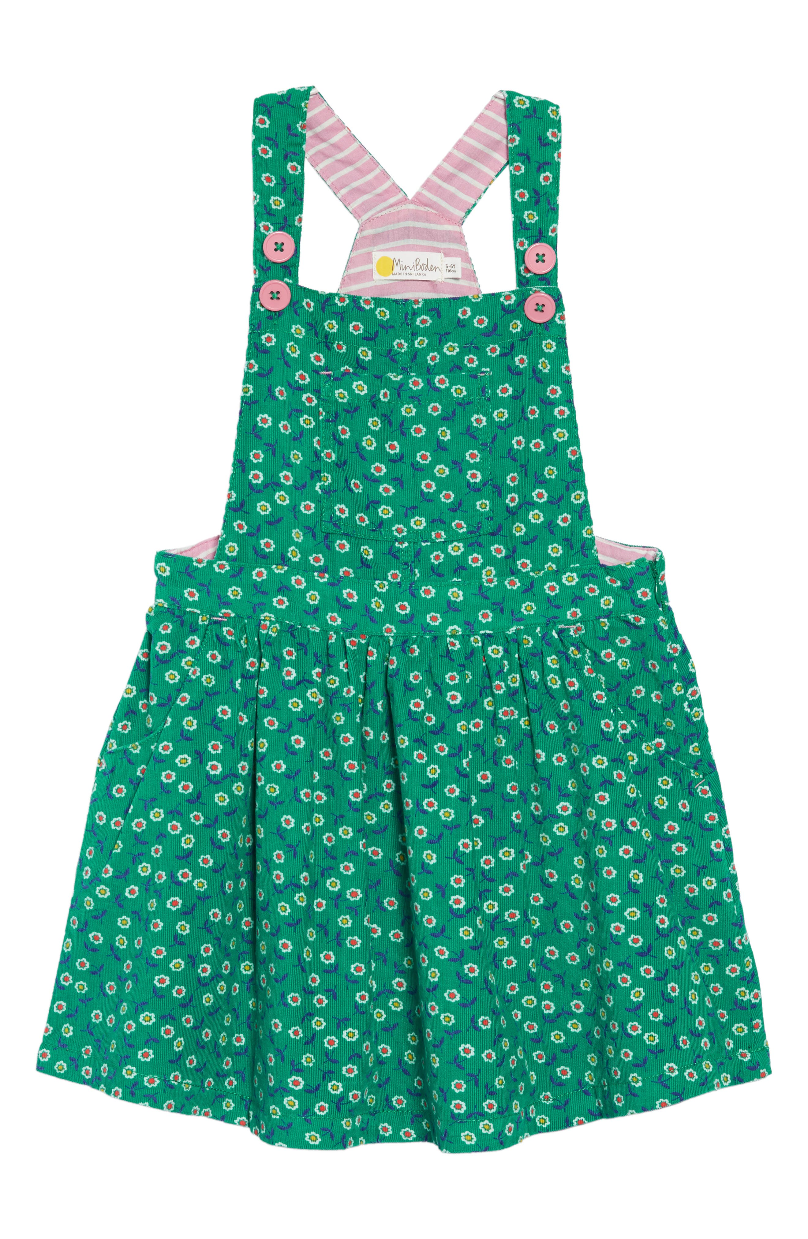MINI BODEN,                             Dungaree Overall Dress,                             Main thumbnail 1, color,                             315